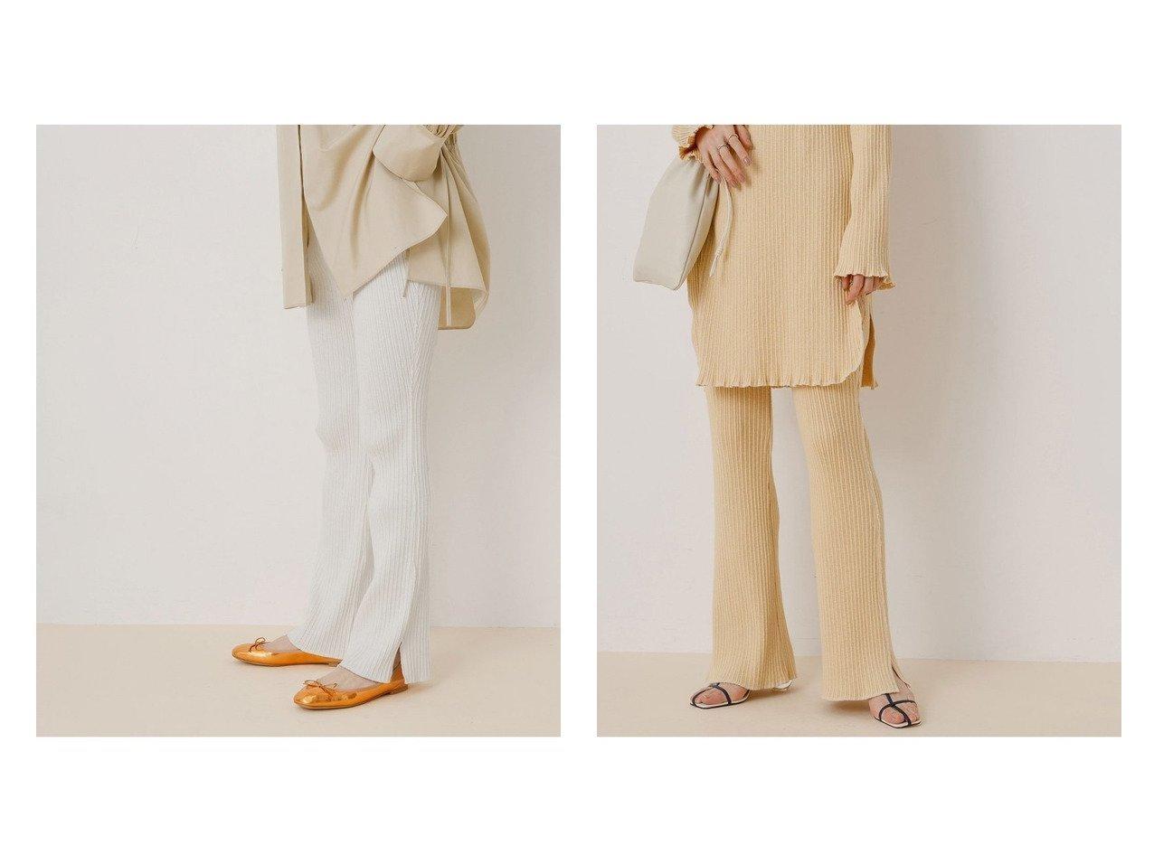 【ADAM ET ROPE'/アダム エ ロペ】の【セットアップ対応】スラブテレコイージーパンツ ロペのおすすめ!人気、トレンド・レディースファッションの通販 おすすめで人気の流行・トレンド、ファッションの通販商品 メンズファッション・キッズファッション・インテリア・家具・レディースファッション・服の通販 founy(ファニー) https://founy.com/ ファッション Fashion レディースファッション WOMEN セットアップ Setup パンツ Pants 春 Spring カットソー ジーンズ スリット セットアップ チュニック テレコ フレア ポケット 2021年 2021 S/S 春夏 SS Spring/Summer 2021 春夏 S/S SS Spring/Summer 2021 おすすめ Recommend |ID:crp329100000020674