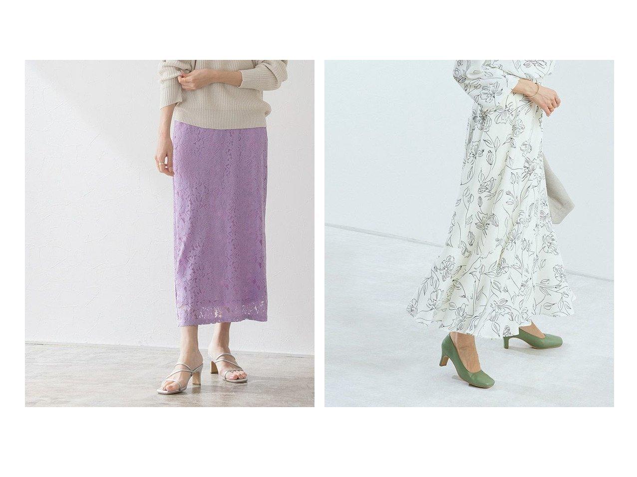 【Pierrot/ピエロ】のレースタイトロングスカート MD&選べる花柄マーメイドスカート おすすめ!人気!プチプライスで上品なファッションアイテムの通販 おすすめで人気の流行・トレンド、ファッションの通販商品 メンズファッション・キッズファッション・インテリア・家具・レディースファッション・服の通販 founy(ファニー) https://founy.com/ ファッション Fashion レディースファッション WOMEN スカート Skirt ロングスカート Long Skirt ジョーゼット プチプライス・低価格 Affordable マーメイド スリット フェミニン ランダム レース |ID:crp329100000020714