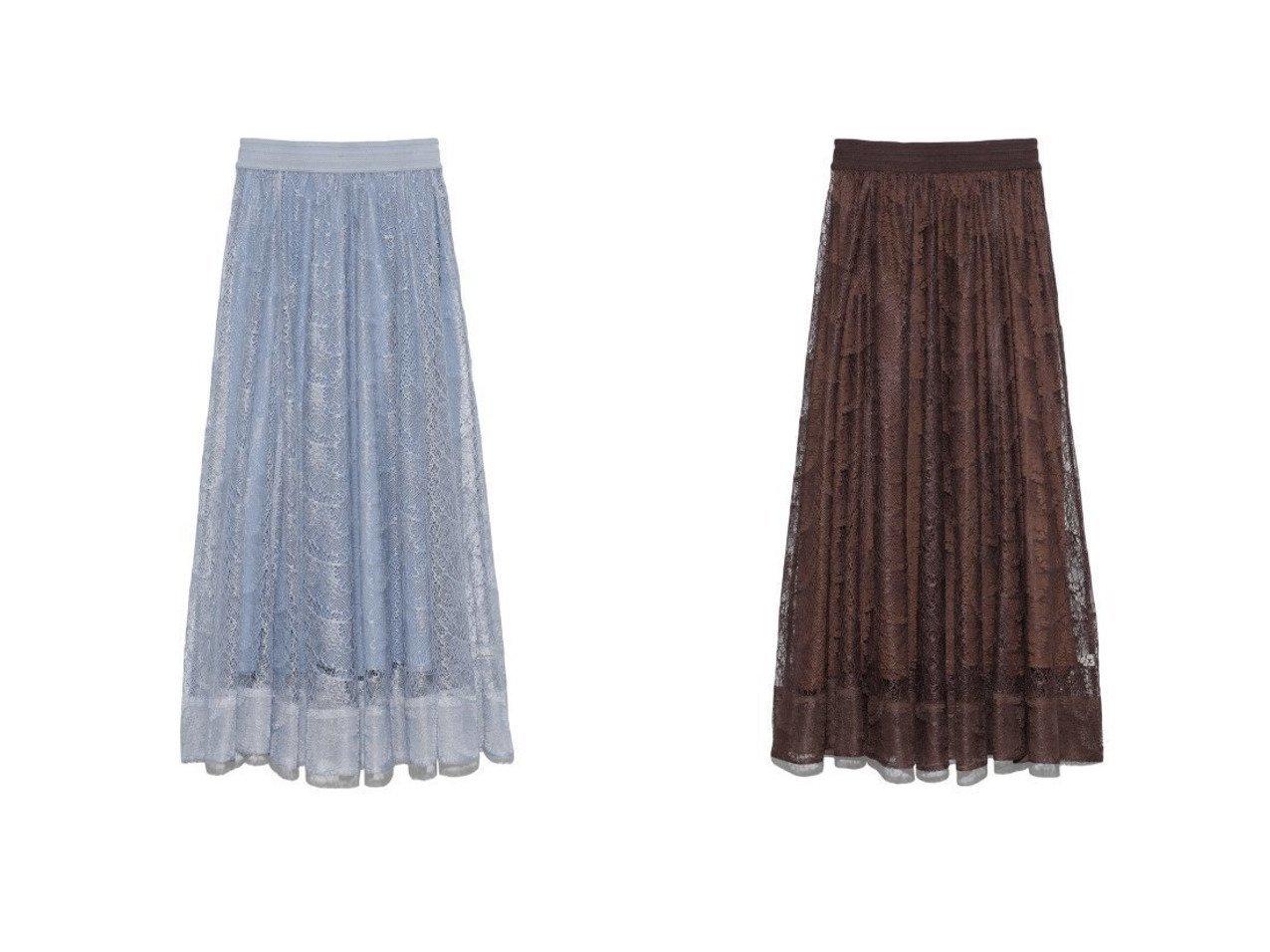 【Lily Brown/リリーブラウン】のバタフライレースロングスカート リリーブラウンのおすすめ!人気、トレンド・レディースファッションの通販 おすすめで人気の流行・トレンド、ファッションの通販商品 メンズファッション・キッズファッション・インテリア・家具・レディースファッション・服の通販 founy(ファニー) https://founy.com/ ファッション Fashion レディースファッション WOMEN スカート Skirt ロングスカート Long Skirt スマート デニム ペチコート メッシュ モチーフ レース 再入荷 Restock/Back in Stock/Re Arrival |ID:crp329100000020869