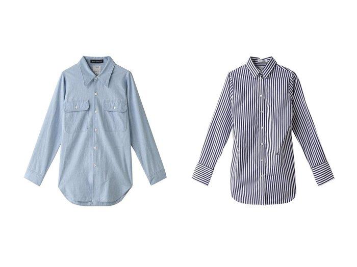 【MADISONBLUE/マディソンブルー】のMADAME コットンストライプシャツ&MADAME コットンシャンブレーワークシャツ(ヴィンテージウォッシュ) マディソンブルーのおすすめ!人気、トレンド・レディースファッションの通販 おすすめファッション通販アイテム レディースファッション・服の通販 founy(ファニー) ファッション Fashion レディースファッション WOMEN トップス カットソー Tops Tshirt シャツ/ブラウス Shirts Blouses 2021年 2021 2021 春夏 S/S SS Spring/Summer 2021 S/S 春夏 SS Spring/Summer カフス ストライプ スリーブ ロング 春 Spring |ID:crp329100000020921