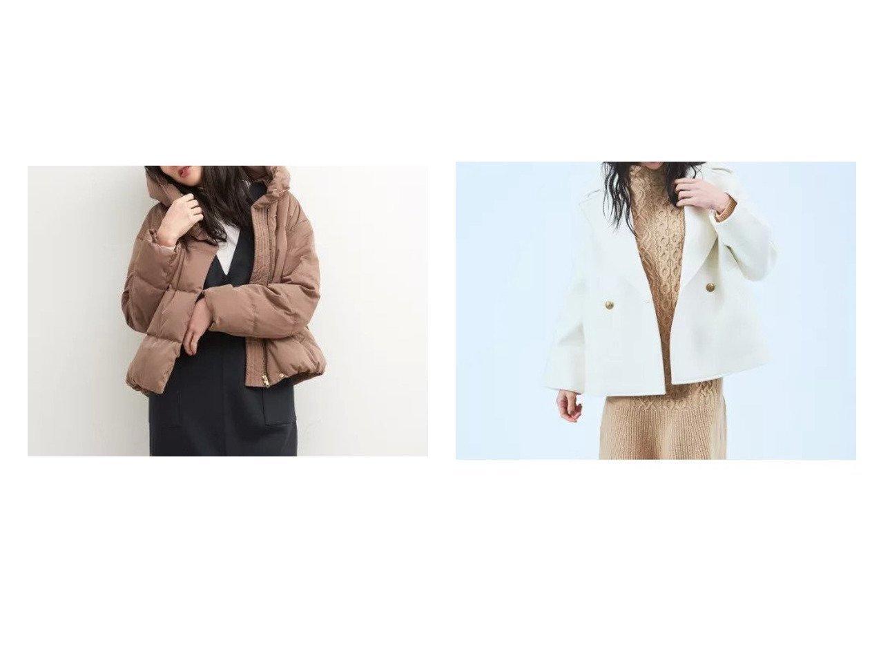 【Rouge vif/ルージュ ヴィフ】の【BRAHMIN】ショートダウンジャケット&【BRAHMIN】ダンボール素材ショート丈ピーコート ルージュ ヴィフのおすすめ!人気、トレンド・レディースファッションの通販  おすすめで人気の流行・トレンド、ファッションの通販商品 メンズファッション・キッズファッション・インテリア・家具・レディースファッション・服の通販 founy(ファニー) https://founy.com/ ファッション Fashion レディースファッション WOMEN アウター Coat Outerwear コート Coats ジャケット Jackets ショート ジャケット ボンディング ロング 冬 Winter 軽量 ショール シンプル ダウン マフラー 今季 |ID:crp329100000020960