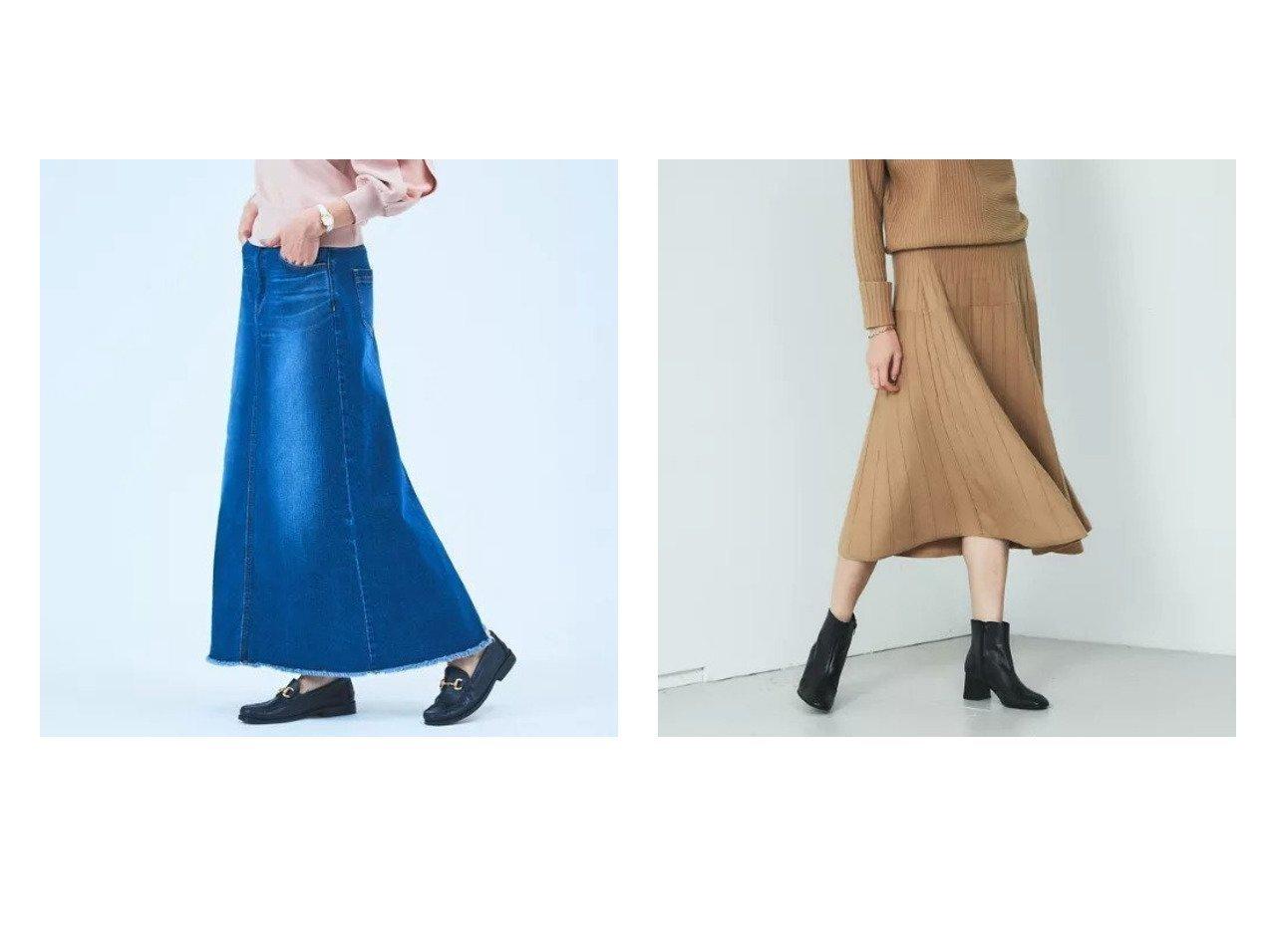 【Rouge vif/ルージュ ヴィフ】の【BRAHMIN】セットアップ対応 ランダムリブニットスカート&【Mylanka】デニムロングスカート ルージュ ヴィフのおすすめ!人気、トレンド・レディースファッションの通販  おすすめで人気の流行・トレンド、ファッションの通販商品 メンズファッション・キッズファッション・インテリア・家具・レディースファッション・服の通販 founy(ファニー) https://founy.com/ ファッション Fashion レディースファッション WOMEN セットアップ Setup スカート Skirt スカート Skirt ロングスカート Long Skirt ショート シンプル セットアップ フェミニン フレア ランダム インディゴ マキシ ロング 定番 Standard |ID:crp329100000020967