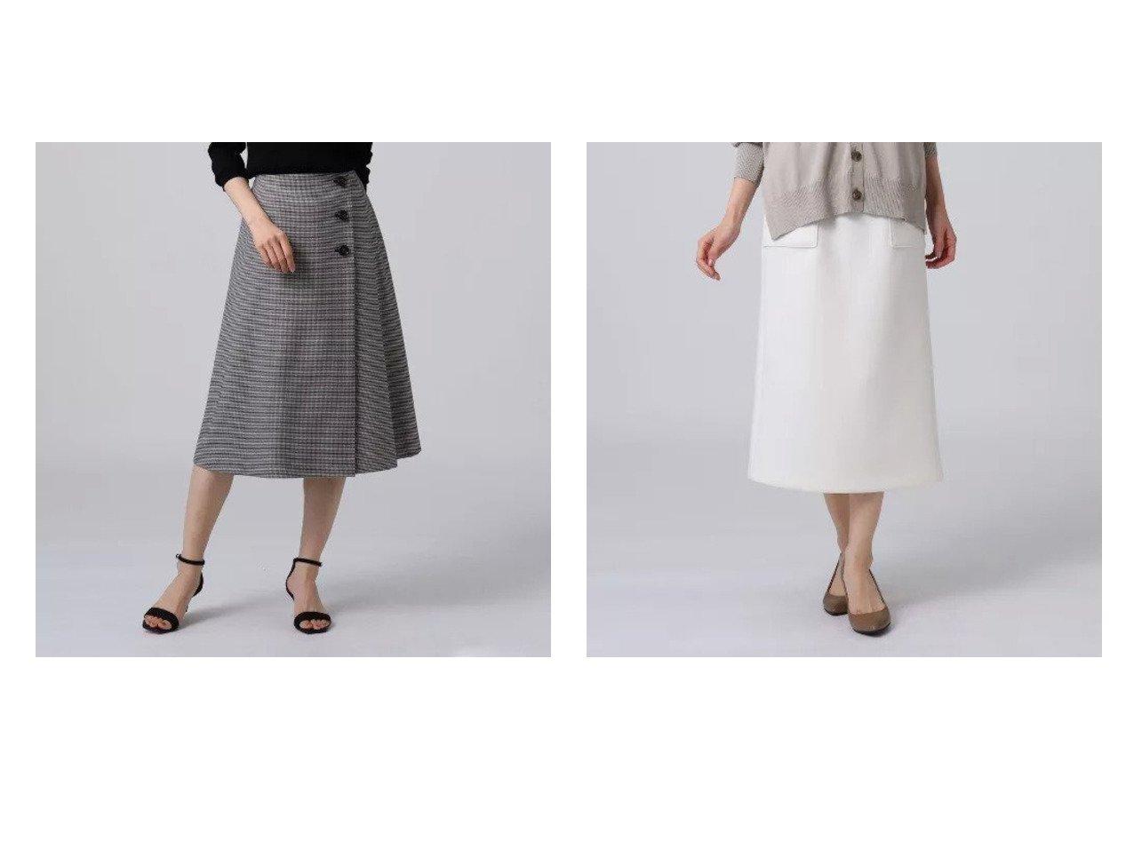 【UNTITLED/アンタイトル】のエアクッションジャージタイトスカート&ラップ風タックフレアスカート アンタイトルのおすすめ!人気、トレンド・レディースファッションの通販  おすすめで人気の流行・トレンド、ファッションの通販商品 メンズファッション・キッズファッション・インテリア・家具・レディースファッション・服の通販 founy(ファニー) https://founy.com/ ファッション Fashion レディースファッション WOMEN スカート Skirt Aライン/フレアスカート Flared A-Line Skirts ストレッチ フェミニン フレア ポケット ラップ おすすめ Recommend インナー クッション シンプル フィット |ID:crp329100000020980