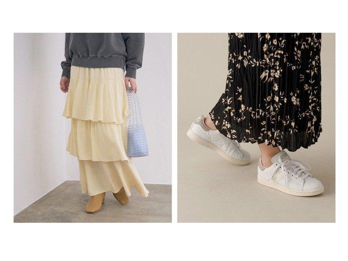 【ADAM ET ROPE'/アダム エ ロペ】の【adidas】STAN SMITH&【ROPE' mademoiselle/ロペ マドモアゼル】のストレートラインティアードスカート ロペのおすすめ!人気、トレンド・レディースファッションの通販  おすすめファッション通販アイテム インテリア・キッズ・メンズ・レディースファッション・服の通販 founy(ファニー) https://founy.com/ ファッション Fashion レディースファッション WOMEN スカート Skirt ティアードスカート Tiered Skirts シューズ スウェット スニーカー ティアード ティアードスカート ドット バレエ ポケット 無地 NEW・新作・新着・新入荷 New Arrivals おすすめ Recommend クラシック 人気 パッチ ビンテージ モダン 再入荷 Restock/Back in Stock/Re Arrival |ID:crp329100000021015
