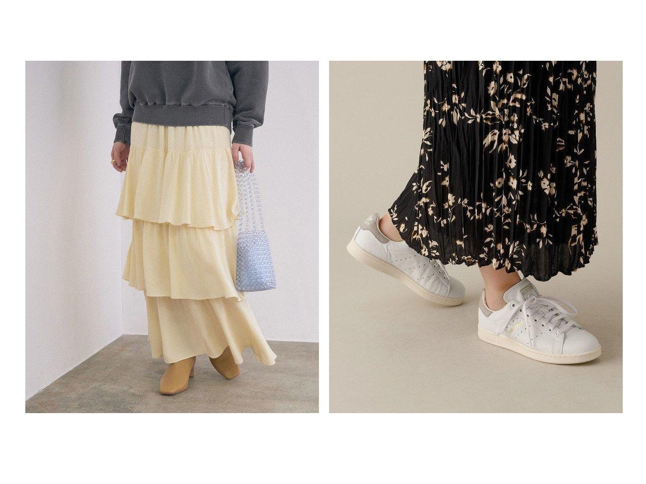 【ADAM ET ROPE'/アダム エ ロペ】の【adidas】STAN SMITH&【ROPE' mademoiselle/ロペ マドモアゼル】のストレートラインティアードスカート ロペのおすすめ!人気、トレンド・レディースファッションの通販  おすすめで人気の流行・トレンド、ファッションの通販商品 メンズファッション・キッズファッション・インテリア・家具・レディースファッション・服の通販 founy(ファニー) https://founy.com/ ファッション Fashion レディースファッション WOMEN スカート Skirt ティアードスカート Tiered Skirts シューズ スウェット スニーカー ティアード ティアードスカート ドット バレエ ポケット 無地 NEW・新作・新着・新入荷 New Arrivals おすすめ Recommend クラシック 人気 パッチ ビンテージ モダン 再入荷 Restock/Back in Stock/Re Arrival |ID:crp329100000021015