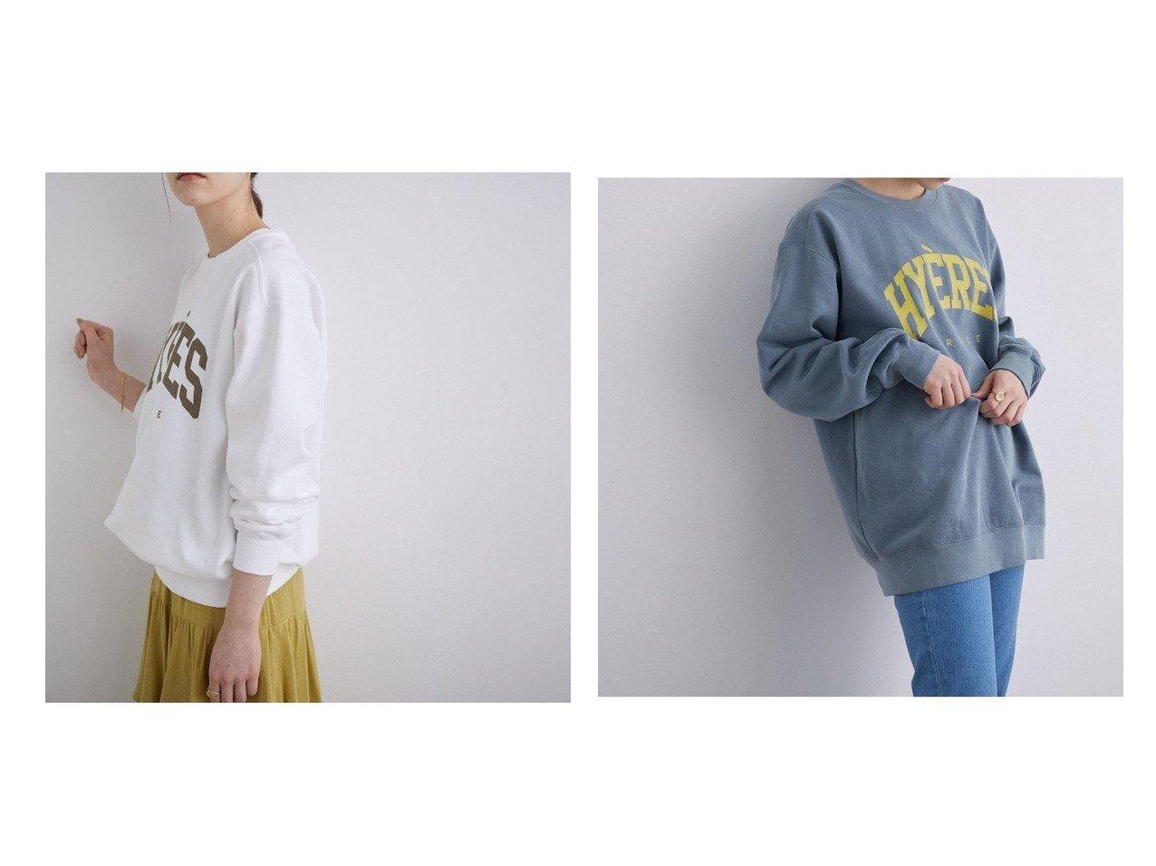 【ROPE' mademoiselle/ロペ マドモアゼル】のヴィンテージライクロゴビッグスウェット ロペのおすすめ!人気、トレンド・レディースファッションの通販  おすすめで人気の流行・トレンド、ファッションの通販商品 メンズファッション・キッズファッション・インテリア・家具・レディースファッション・服の通販 founy(ファニー) https://founy.com/ ファッション Fashion レディースファッション WOMEN トップス カットソー Tops Tshirt パーカ Sweats スウェット Sweat カットソー Cut and Sewn カットソー ギャザー スウェット ティアード トレンド ビッグ フランス プリント ボトム ポケット |ID:crp329100000021018