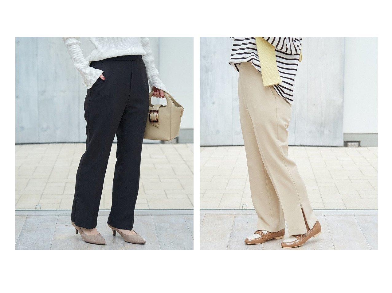 【ROPE' PICNIC/ロペピクニック】の【低身長向け】【ラク美】【WEB限定】スリットカラーパンツ ロペピクニックのおすすめ!人気、トレンド・レディースファッションの通販  おすすめで人気の流行・トレンド、ファッションの通販商品 メンズファッション・キッズファッション・インテリア・家具・レディースファッション・服の通販 founy(ファニー) https://founy.com/ ファッション Fashion レディースファッション WOMEN パンツ Pants インナー 春 Spring ストレッチ スリット センター チュニック 人気 パステル フィット フレア フロント ポケット NEW・新作・新着・新入荷 New Arrivals おすすめ Recommend |ID:crp329100000021022
