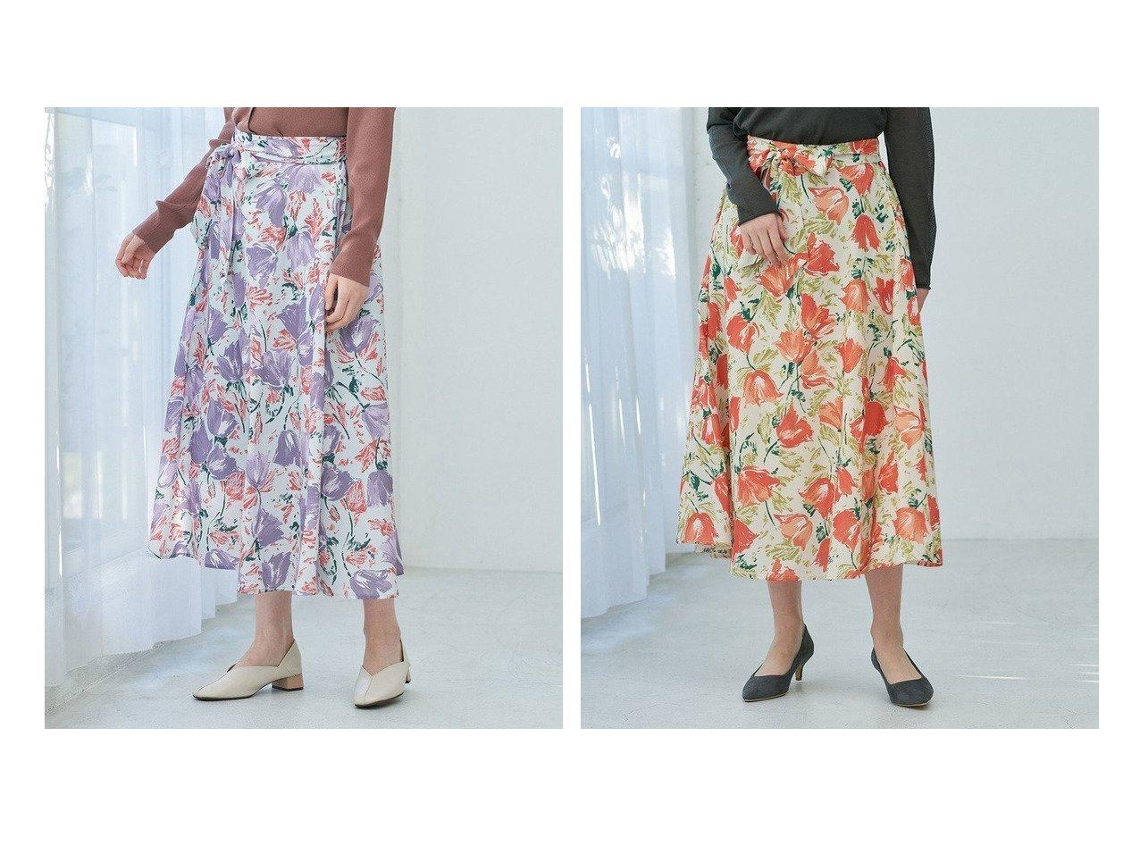 【ROPE' PICNIC/ロペピクニック】の【リンクコーデ】BIGフラワーフレアスカート ロペピクニックのおすすめ!人気、トレンド・レディースファッションの通販  おすすめで人気の流行・トレンド、ファッションの通販商品 メンズファッション・キッズファッション・インテリア・家具・レディースファッション・服の通販 founy(ファニー) https://founy.com/ ファッション Fashion レディースファッション WOMEN スカート Skirt Aライン/フレアスカート Flared A-Line Skirts イエロー 春 Spring スカーフ フラワー ポケット ラベンダー リブニット NEW・新作・新着・新入荷 New Arrivals おすすめ Recommend |ID:crp329100000021023