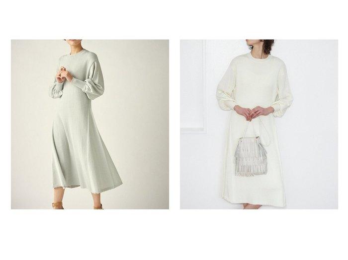 【Clear Impression musee/クリアインプレッション ミュゼ】のパフスリーブニットワンピース クリア インプレッションのおすすめ!人気、トレンド・レディースファッションの通販  おすすめファッション通販アイテム インテリア・キッズ・メンズ・レディースファッション・服の通販 founy(ファニー) https://founy.com/ ファッション Fashion レディースファッション WOMEN ワンピース Dress ニットワンピース Knit Dresses NEW・新作・新着・新入荷 New Arrivals インナーキャミ ギャザー スリーブ ベーシック リラックス 春 Spring 長袖 |ID:crp329100000021058