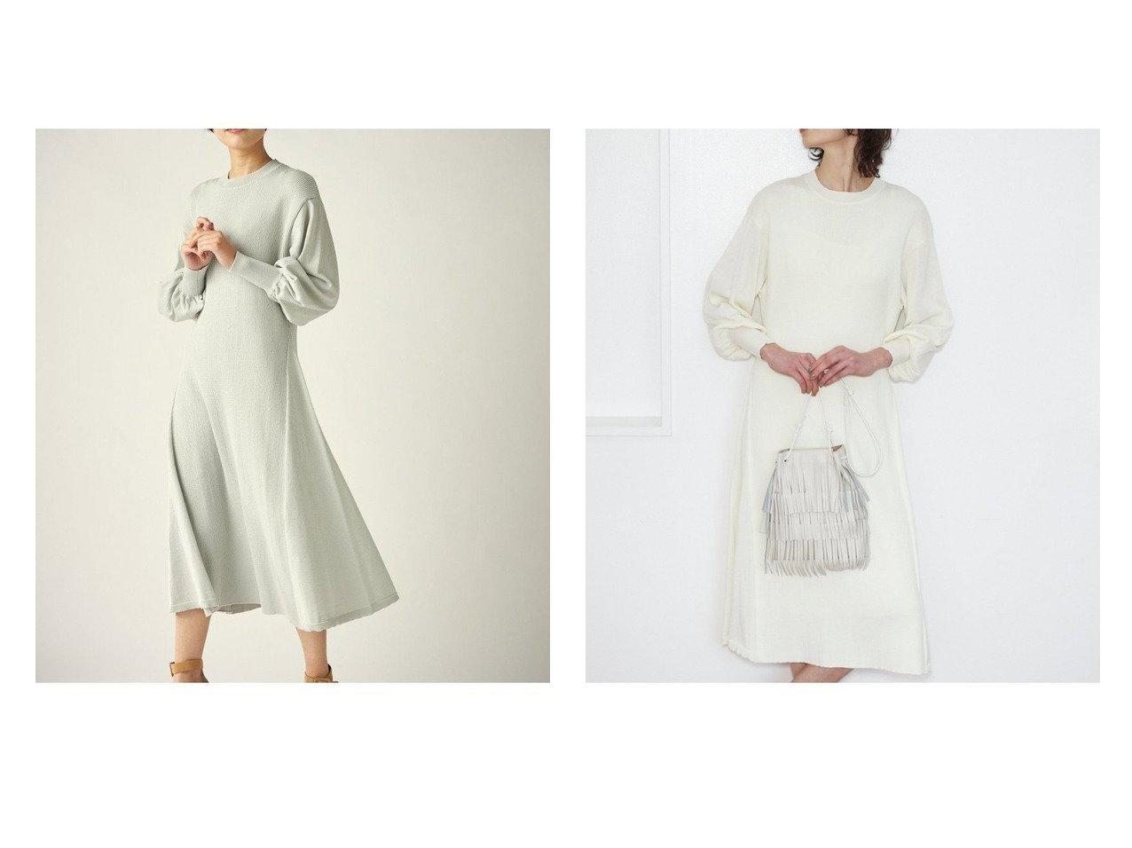 【Clear Impression musee/クリアインプレッション ミュゼ】のパフスリーブニットワンピース クリア インプレッションのおすすめ!人気、トレンド・レディースファッションの通販  おすすめで人気の流行・トレンド、ファッションの通販商品 メンズファッション・キッズファッション・インテリア・家具・レディースファッション・服の通販 founy(ファニー) https://founy.com/ ファッション Fashion レディースファッション WOMEN ワンピース Dress ニットワンピース Knit Dresses NEW・新作・新着・新入荷 New Arrivals インナーキャミ ギャザー スリーブ ベーシック リラックス 春 Spring 長袖 |ID:crp329100000021058
