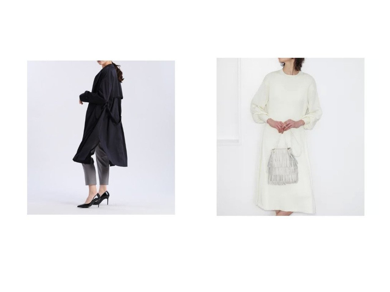 【CLEAR IMPRESSION/クリアインプレッション】のエステルトレンチコート&パフスリーブニットワンピース クリア インプレッションのおすすめ!人気、トレンド・レディースファッションの通販  おすすめで人気の流行・トレンド、ファッションの通販商品 メンズファッション・キッズファッション・インテリア・家具・レディースファッション・服の通販 founy(ファニー) https://founy.com/ ファッション Fashion レディースファッション WOMEN アウター Coat Outerwear コート Coats トレンチコート Trench Coats ワンピース Dress ニットワンピース Knit Dresses インナーキャミ ギャザー スリーブ ベーシック リラックス 春 Spring |ID:crp329100000021072