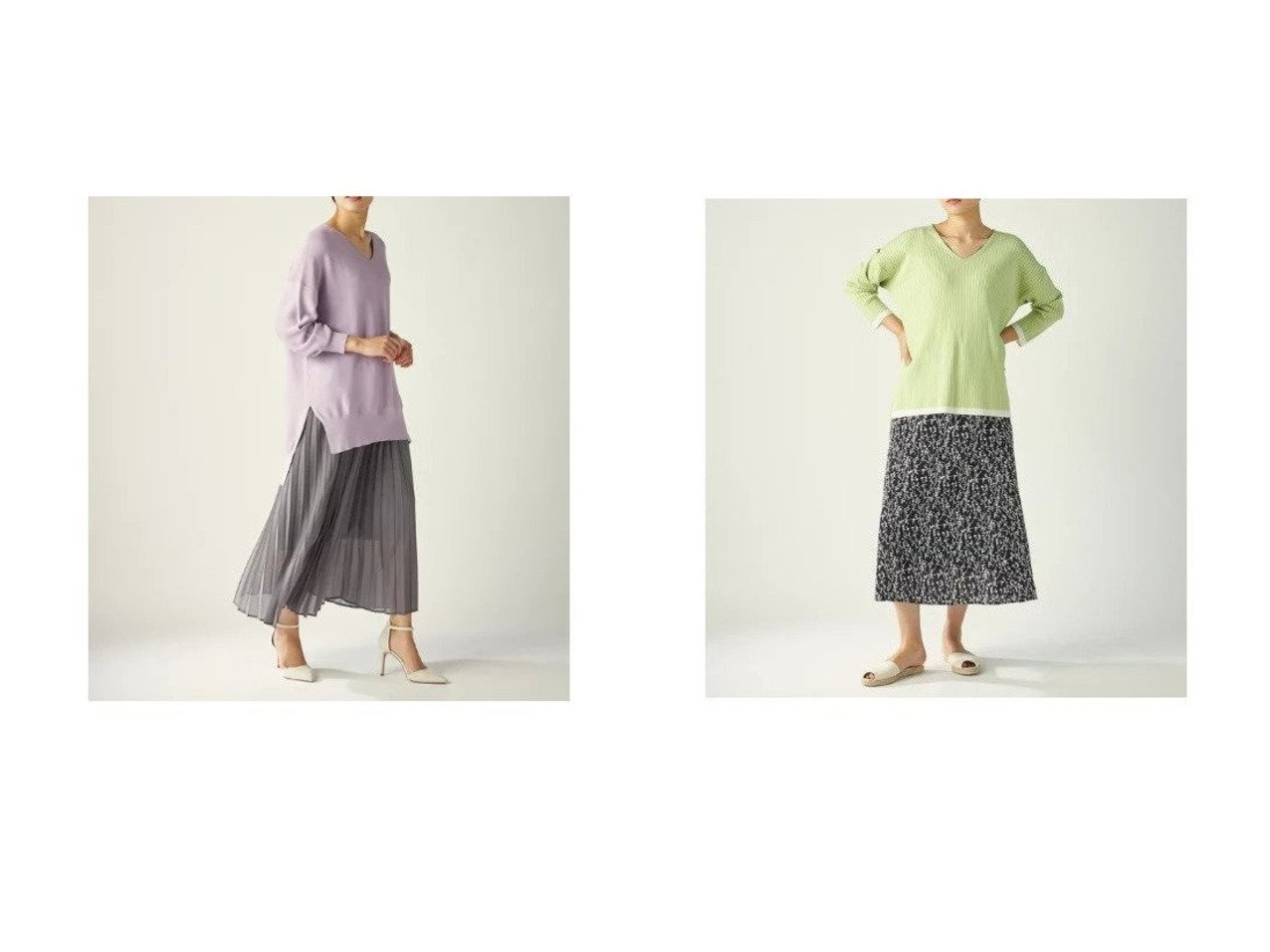 【CLEAR IMPRESSION/クリアインプレッション】の《musee》ボタニカルプリントナロースカート&ラメシアープリーツスカート クリア インプレッションのおすすめ!人気、トレンド・レディースファッションの通販  おすすめで人気の流行・トレンド、ファッションの通販商品 メンズファッション・キッズファッション・インテリア・家具・レディースファッション・服の通販 founy(ファニー) https://founy.com/ ファッション Fashion レディースファッション WOMEN スカート Skirt プリーツスカート Pleated Skirts カットソー プリーツ セットアップ プリント |ID:crp329100000021074
