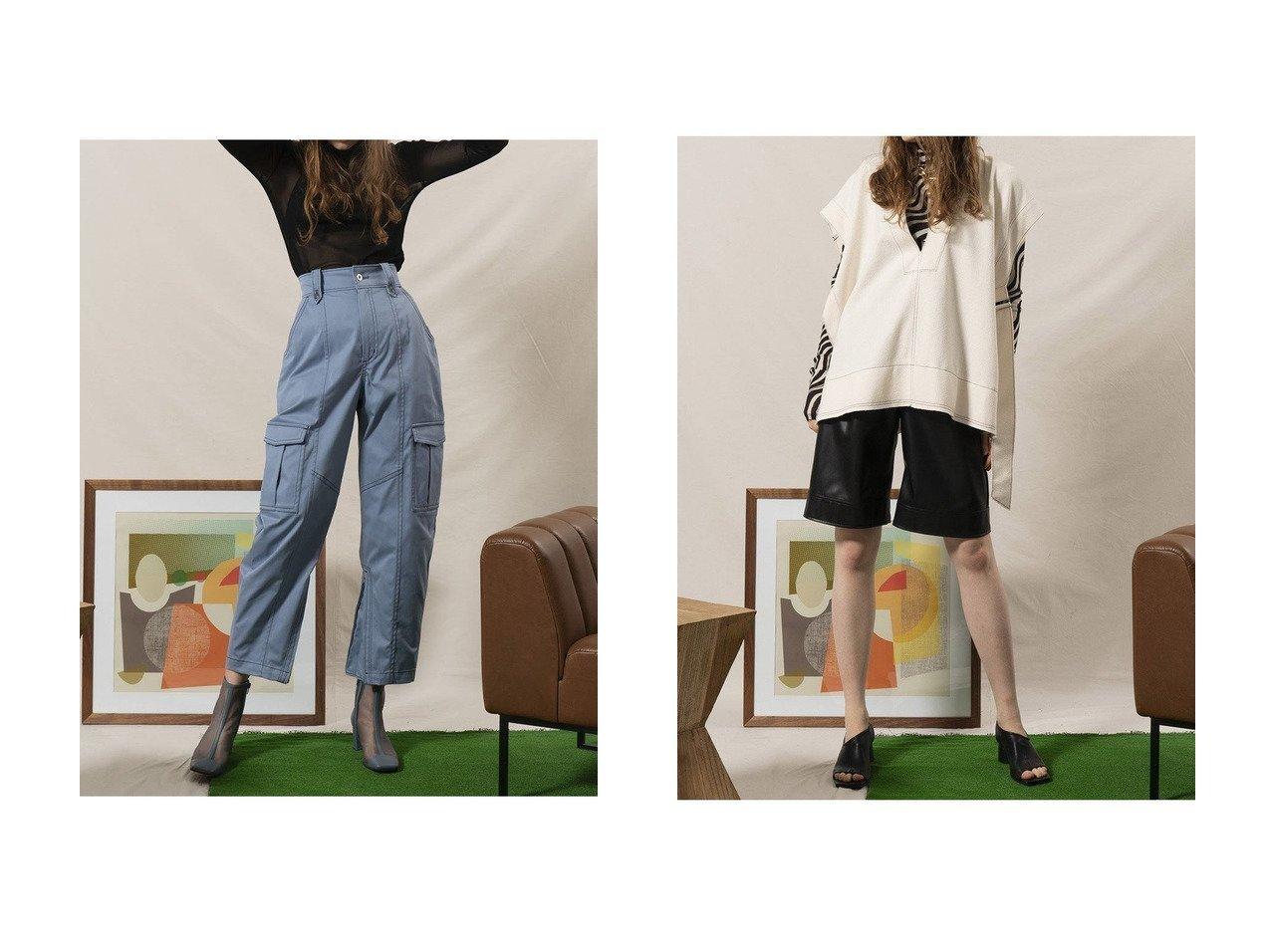 【MAISON SPECIAL/メゾンスペシャル】の裾ZIPカーゴパンツ&ブークレーダンボールジレ メゾンスペシャルのおすすめ!人気、トレンド・レディースファッションの通販  おすすめで人気の流行・トレンド、ファッションの通販商品 メンズファッション・キッズファッション・インテリア・家具・レディースファッション・服の通販 founy(ファニー) https://founy.com/ ファッション Fashion レディースファッション WOMEN アウター Coat Outerwear ジャケット Jackets パンツ Pants 春 Spring カットソー ジャケット ストレッチ フラット ベスト 2021年 2021 S/S 春夏 SS Spring/Summer 2021 春夏 S/S SS Spring/Summer 2021 カーゴパンツ ジップ ストレート ツイル ミリタリー ワイド |ID:crp329100000021137