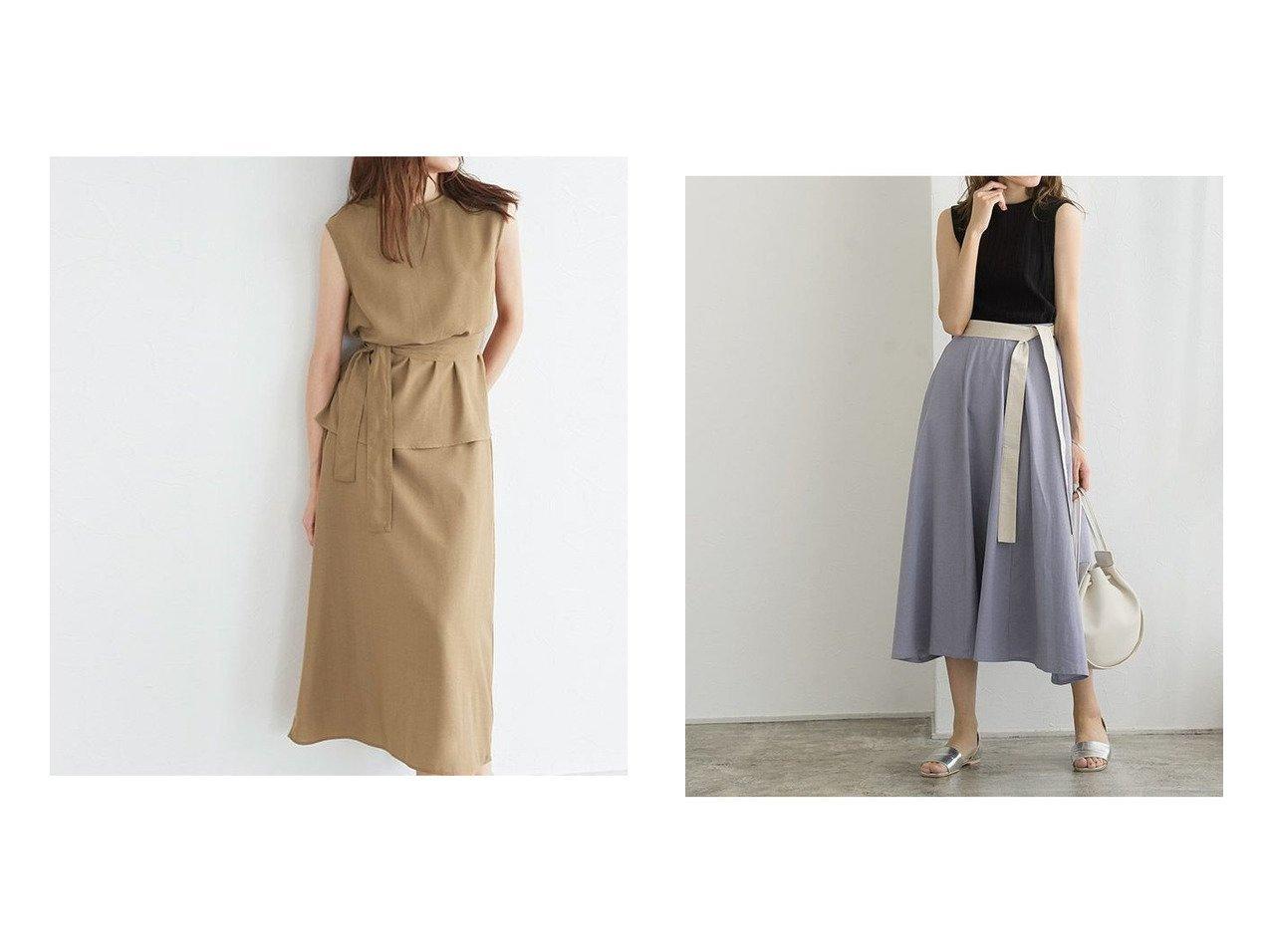 【Pierrot/ピエロ】のウエストマークスカートセットアップ&麻混配色ベルトフレアスカート おすすめ!人気!プチプライスで上品なファッションアイテムの通販  おすすめで人気の流行・トレンド、ファッションの通販商品 メンズファッション・キッズファッション・インテリア・家具・レディースファッション・服の通販 founy(ファニー) https://founy.com/ ファッション Fashion レディースファッション WOMEN セットアップ Setup スカート Skirt スカート Skirt Aライン/フレアスカート Flared A-Line Skirts ベルト Belts セットアップ フレア プチプライス・低価格 Affordable |ID:crp329100000021225