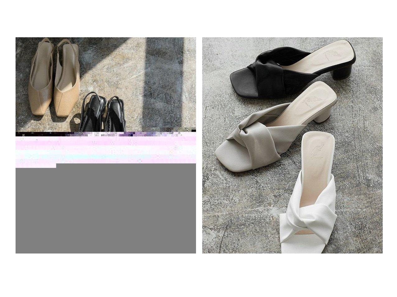 【Pierrot/ピエロ】のクロコ型押しVカットスクエアトゥサンダル&ツイストサンダル おすすめ!人気!プチプライスで上品なファッションアイテムの通販  おすすめで人気の流行・トレンド、ファッションの通販商品 メンズファッション・キッズファッション・インテリア・家具・レディースファッション・服の通販 founy(ファニー) https://founy.com/ ファッション Fashion レディースファッション WOMEN クロコ シューズ フラット プチプライス・低価格 Affordable |ID:crp329100000021236
