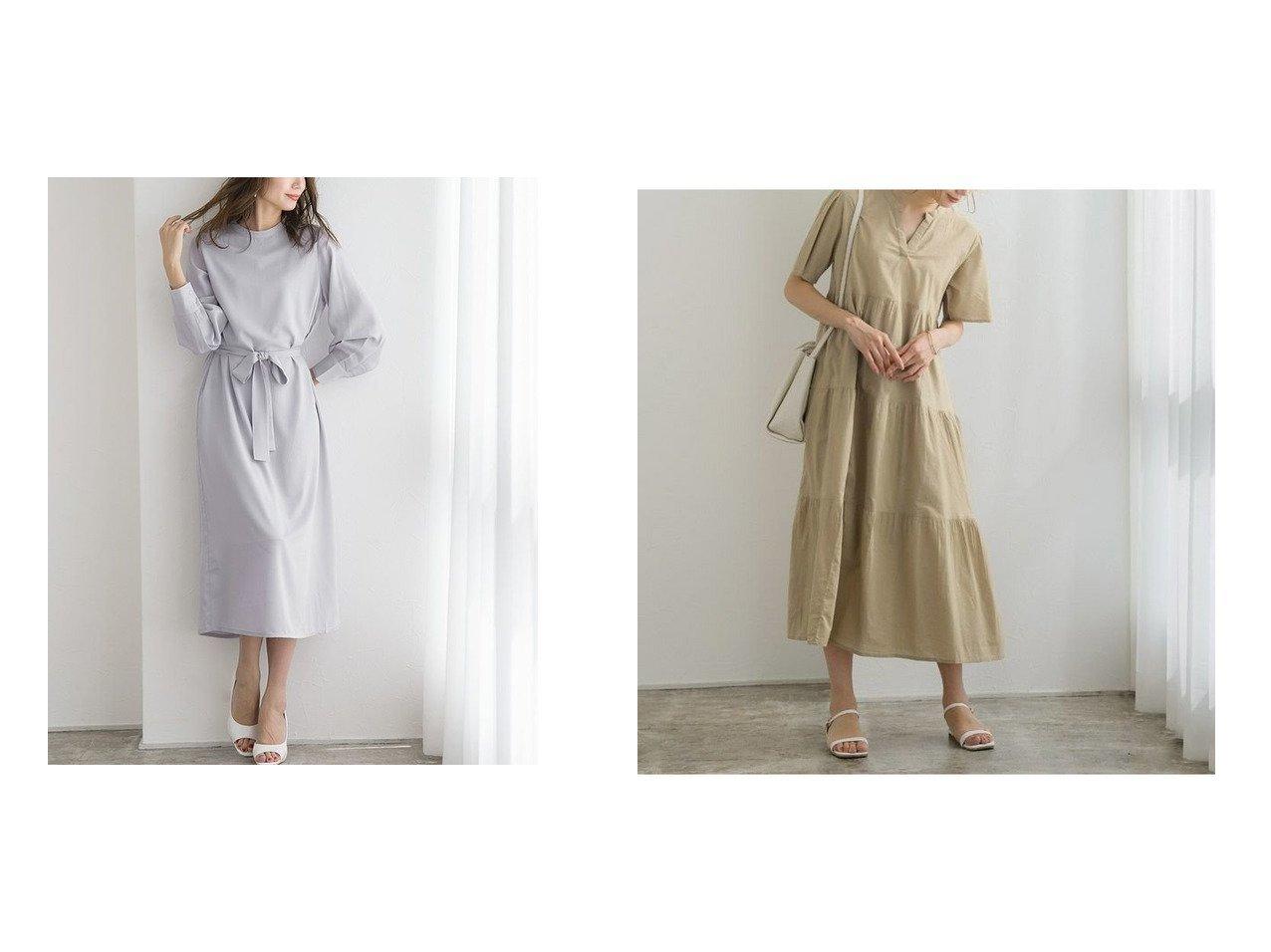 【Pierrot/ピエロ】のスタンドカラーボリュームスリーブワンピース&ノーカラーティアードワンピース おすすめ!人気!プチプライスで上品なファッションアイテムの通販  おすすめで人気の流行・トレンド、ファッションの通販商品 メンズファッション・キッズファッション・インテリア・家具・レディースファッション・服の通販 founy(ファニー) https://founy.com/ ファッション Fashion レディースファッション WOMEN ワンピース Dress シンプル スタンド フェミニン プチプライス・低価格 Affordable  ID:crp329100000021268
