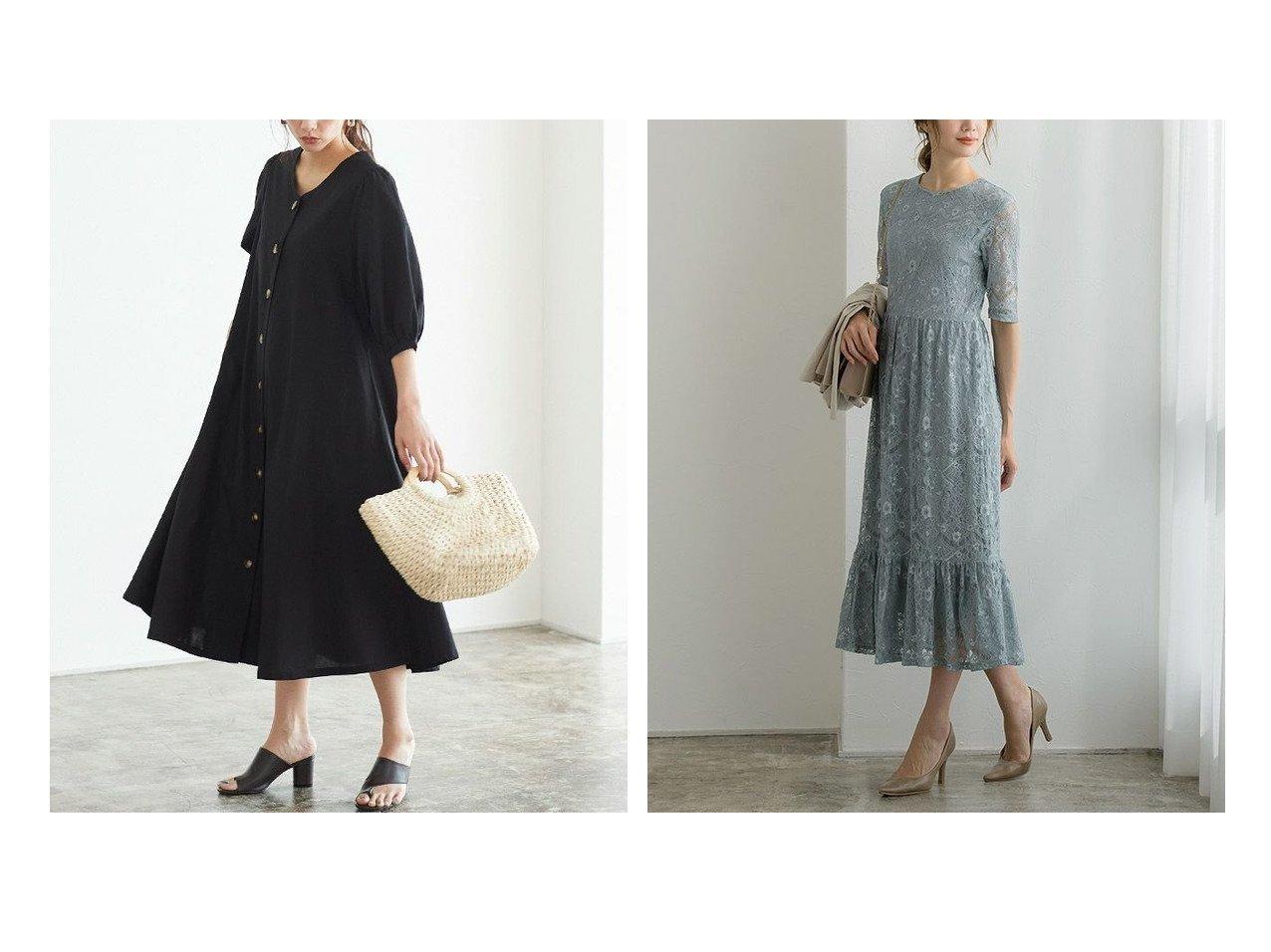 【Pierrot/ピエロ】の2wayAラインワンピース&レースワンピース おすすめ!人気!プチプライスで上品なファッションアイテムの通販  おすすめで人気の流行・トレンド、ファッションの通販商品 メンズファッション・キッズファッション・インテリア・家具・レディースファッション・服の通販 founy(ファニー) https://founy.com/ ファッション Fashion レディースファッション WOMEN ワンピース Dress Aラインワンピース A-line Dress フロント プチプライス・低価格 Affordable リネン シンプル フェミニン フレア レース  ID:crp329100000021269