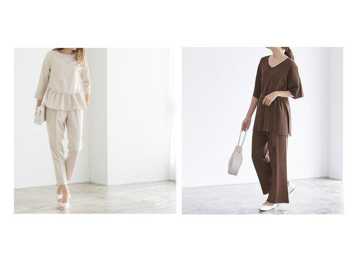 【Pierrot/ピエロ】のフリルセットアップ&ベルト付きセットアップ おすすめ!人気!プチプライスで上品なファッションアイテムの通販  おすすめファッション通販アイテム インテリア・キッズ・メンズ・レディースファッション・服の通販 founy(ファニー) https://founy.com/ ファッション Fashion レディースファッション WOMEN セットアップ Setup スーツ Suits スーツセット Suit Sets ベルト Belts スーツ セットアップ センター フェミニン フリル プチプライス・低価格 Affordable |ID:crp329100000021317
