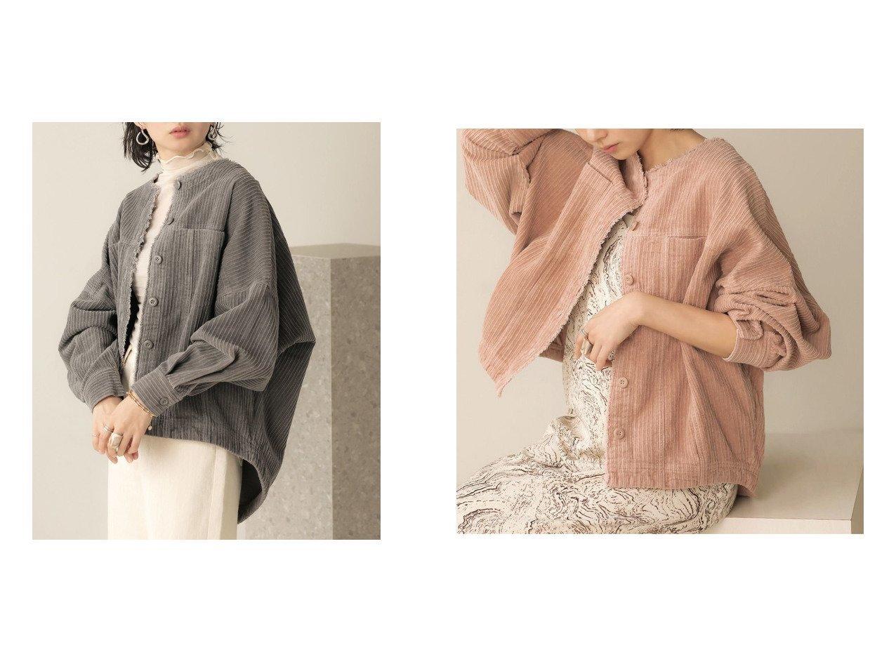 【Bab/バブ】のコーデュロイノーカラージャケット おすすめ!人気!プチプライスで上品なファッションアイテムの通販  おすすめで人気の流行・トレンド、ファッションの通販商品 メンズファッション・キッズファッション・インテリア・家具・レディースファッション・服の通販 founy(ファニー) https://founy.com/ ファッション Fashion レディースファッション WOMEN アウター Coat Outerwear ジャケット Jackets ノーカラージャケット No Collar Leather Jackets カットオフ コーデュロイ シンプル ジャケット プチプライス・低価格 Affordable  ID:crp329100000021333
