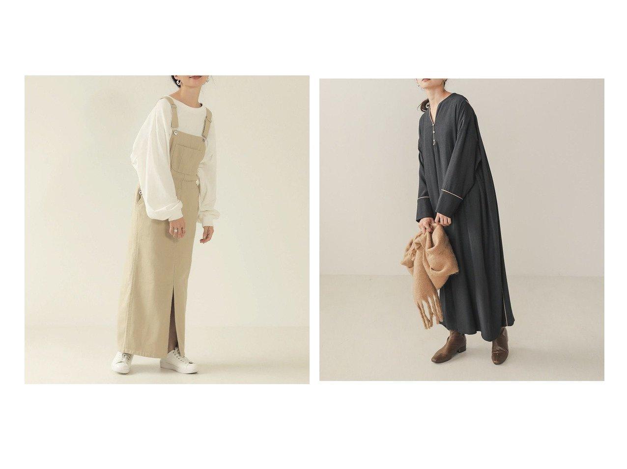 【Bab/バブ】のカフタンパイピングワンピース&ツイルジャンパースカート おすすめ!人気!プチプライスで上品なファッションアイテムの通販  おすすめで人気の流行・トレンド、ファッションの通販商品 メンズファッション・キッズファッション・インテリア・家具・レディースファッション・服の通販 founy(ファニー) https://founy.com/ ファッション Fashion レディースファッション WOMEN スカート Skirt ワンピース Dress カットソー コンパクト スリット タートルネック ツイル フロント プチプライス・低価格 Affordable ポケット 秋 Autumn/Fall オリエンタル サテン シアー シフォン タートル トレンド パイピング フォルム ミックス 再入荷 Restock/Back in Stock/Re Arrival 冬 Winter 無地  ID:crp329100000021339