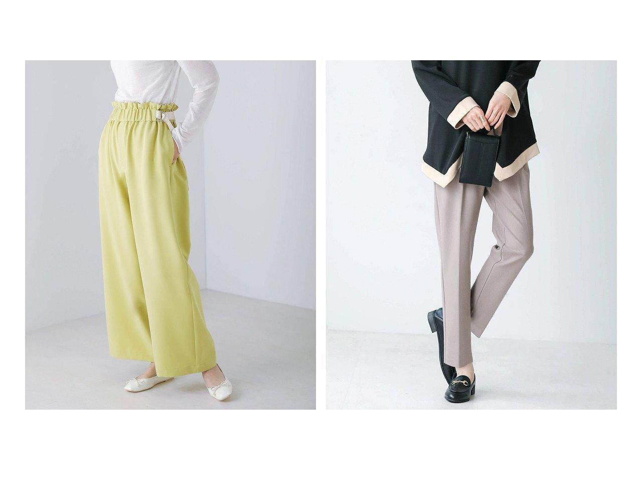 【Bou Jeloud/ブージュルード】のサイドベルトセミワイドパンツ&ステインガート テーパードパンツ おすすめ!人気!プチプライスで上品なファッションアイテムの通販  おすすめで人気の流行・トレンド、ファッションの通販商品 メンズファッション・キッズファッション・インテリア・家具・レディースファッション・服の通販 founy(ファニー) https://founy.com/ ファッション Fashion レディースファッション WOMEN パンツ Pants ベルト Belts ギャザー プチプライス・低価格 Affordable ワイド ストレッチ センター |ID:crp329100000021376