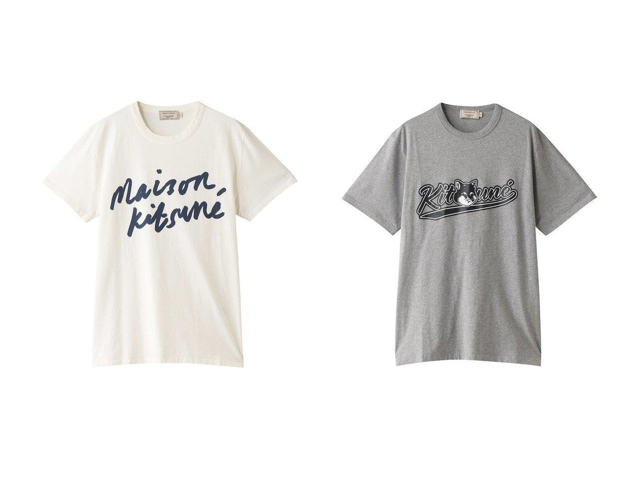 【MAISON KITSUNE / MEN/メゾン キツネ】の【MEN】HANDWRITING CLASSIC TEE-Tシャツ&【MEN】VARSITY FOX CLASSIC TEE-Tシャツ 【MEN】おすすめ!人気トレンド・男性、メンズファッションの通販 おすすめで人気の流行・トレンド、ファッションの通販商品 メンズファッション・キッズファッション・インテリア・家具・レディースファッション・服の通販 founy(ファニー) https://founy.com/ ファッション Fashion メンズファッション MEN トップス カットソー Tops Tshirt Men シャツ Shirts ショート スリーブ デニム ベーシック 定番 Standard フォックス フロント |ID:crp329100000021383