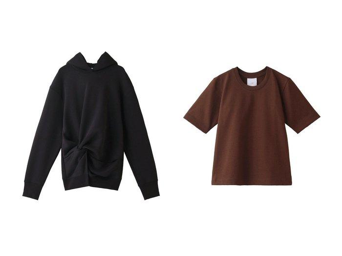 【CINOH/チノ】のコットンコンパクトTシャツ&コットンスウェットフーディー チノのおすすめ!人気、トレンド・レディースファッションの通販 おすすめファッション通販アイテム インテリア・キッズ・メンズ・レディースファッション・服の通販 founy(ファニー) https://founy.com/ ファッション Fashion レディースファッション WOMEN トップス カットソー Tops Tshirt シャツ/ブラウス Shirts Blouses ロング / Tシャツ T-Shirts カットソー Cut and Sewn パーカ Sweats スウェット Sweat 2021年 2021 2021 春夏 S/S SS Spring/Summer 2021 S/S 春夏 SS Spring/Summer アイレット コンパクト ショート シンプル スリーブ 半袖 春 Spring |ID:crp329100000021413