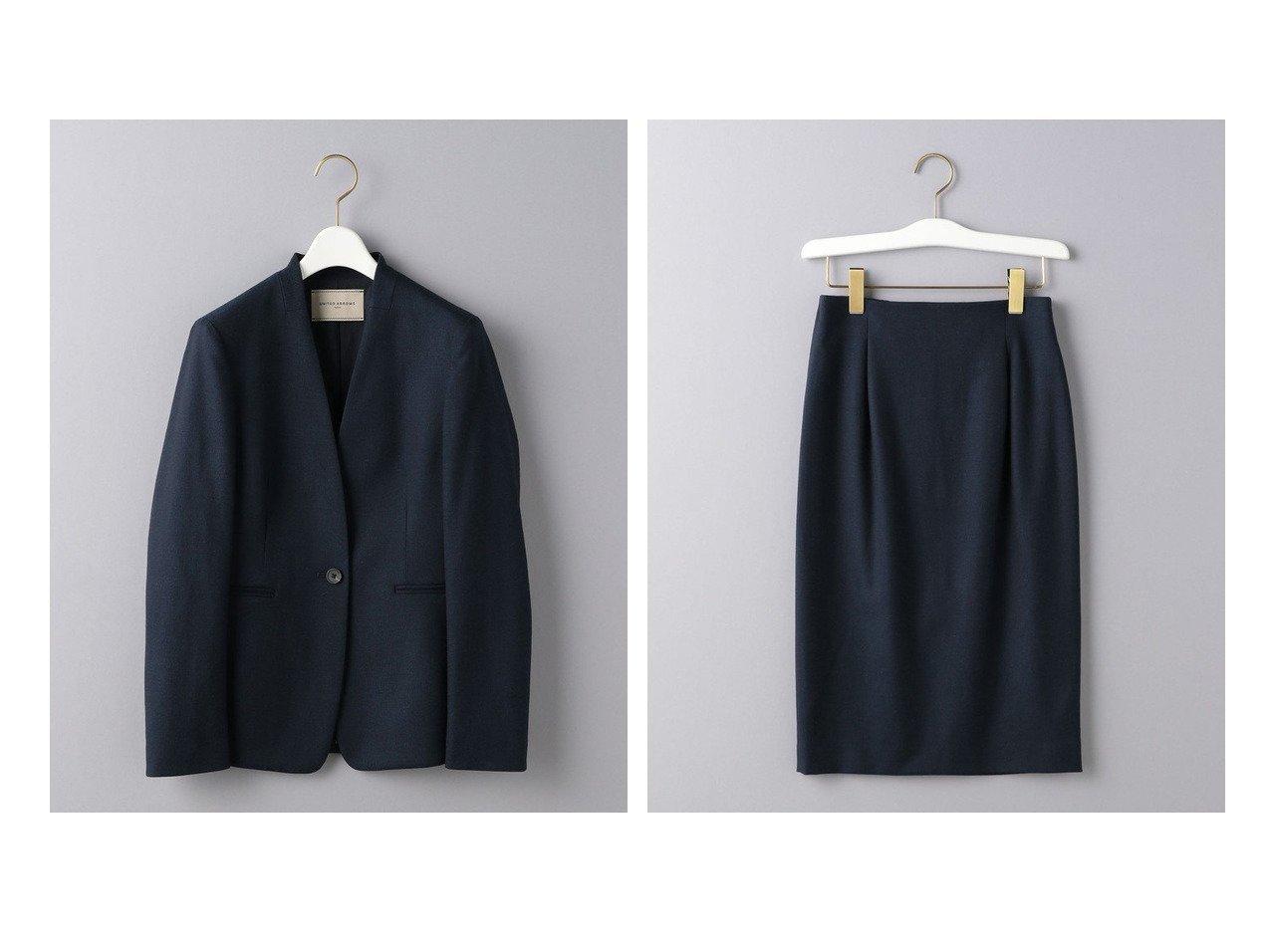 【UNITED ARROWS/ユナイテッドアローズ】のUBC ツイル ノーラペル ジャケット&UBC ツイル タイトスカート ユナイテッドアローズのおすすめ!人気、トレンド・レディースファッションの通販 おすすめで人気の流行・トレンド、ファッションの通販商品 メンズファッション・キッズファッション・インテリア・家具・レディースファッション・服の通販 founy(ファニー) https://founy.com/ ファッション Fashion レディースファッション WOMEN アウター Coat Outerwear ジャケット Jackets ノーカラージャケット No Collar Leather Jackets スカート Skirt NEW・新作・新着・新入荷 New Arrivals コンパクト シェイプ ジャケット ツイル ネップ |ID:crp329100000021462