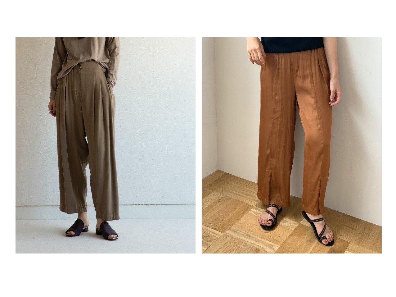 【marjour/マージュール】のmarjourレーヨンタックパンツ RAYON TUCK PANTS&marjourサテンスリットパンツ SATIN SLIT PANTS マージュールのおすすめ!人気、トレンド・レディースファッションの通販 おすすめで人気の流行・トレンド、ファッションの通販商品 メンズファッション・キッズファッション・インテリア・家具・レディースファッション・服の通販 founy(ファニー) https://founy.com/ ファッション Fashion レディースファッション WOMEN パンツ Pants おすすめ Recommend くるぶし アンクル カットソー コクーン サマー ダウン バランス ワイド 楽ちん サテン スリット トレンド リラックス |ID:crp329100000021534