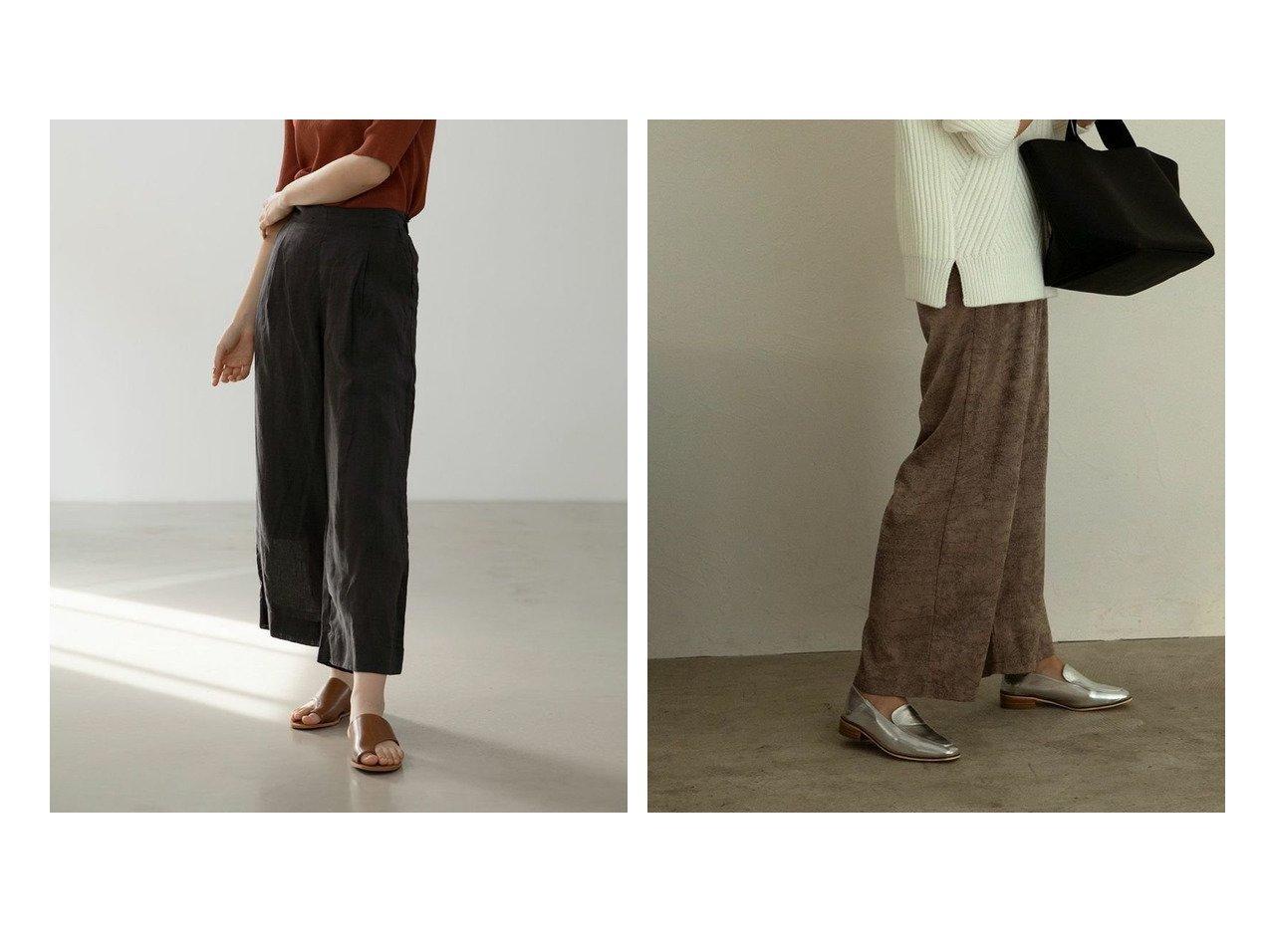 【marjour/マージュール】のmarjourリネンワイドパンツ LINEN WIDE PANTS&フォイルワイドパンツ FOIL WIDE PANTS マージュールのおすすめ!人気、トレンド・レディースファッションの通販 おすすめで人気の流行・トレンド、ファッションの通販商品 メンズファッション・キッズファッション・インテリア・家具・レディースファッション・服の通販 founy(ファニー) https://founy.com/ ファッション Fashion レディースファッション WOMEN パンツ Pants おすすめ Recommend くるぶし ジャケット ストレート スニーカー リネン ワイド 長袖 シンプル プリント モノトーン リラックス 無地 |ID:crp329100000021536
