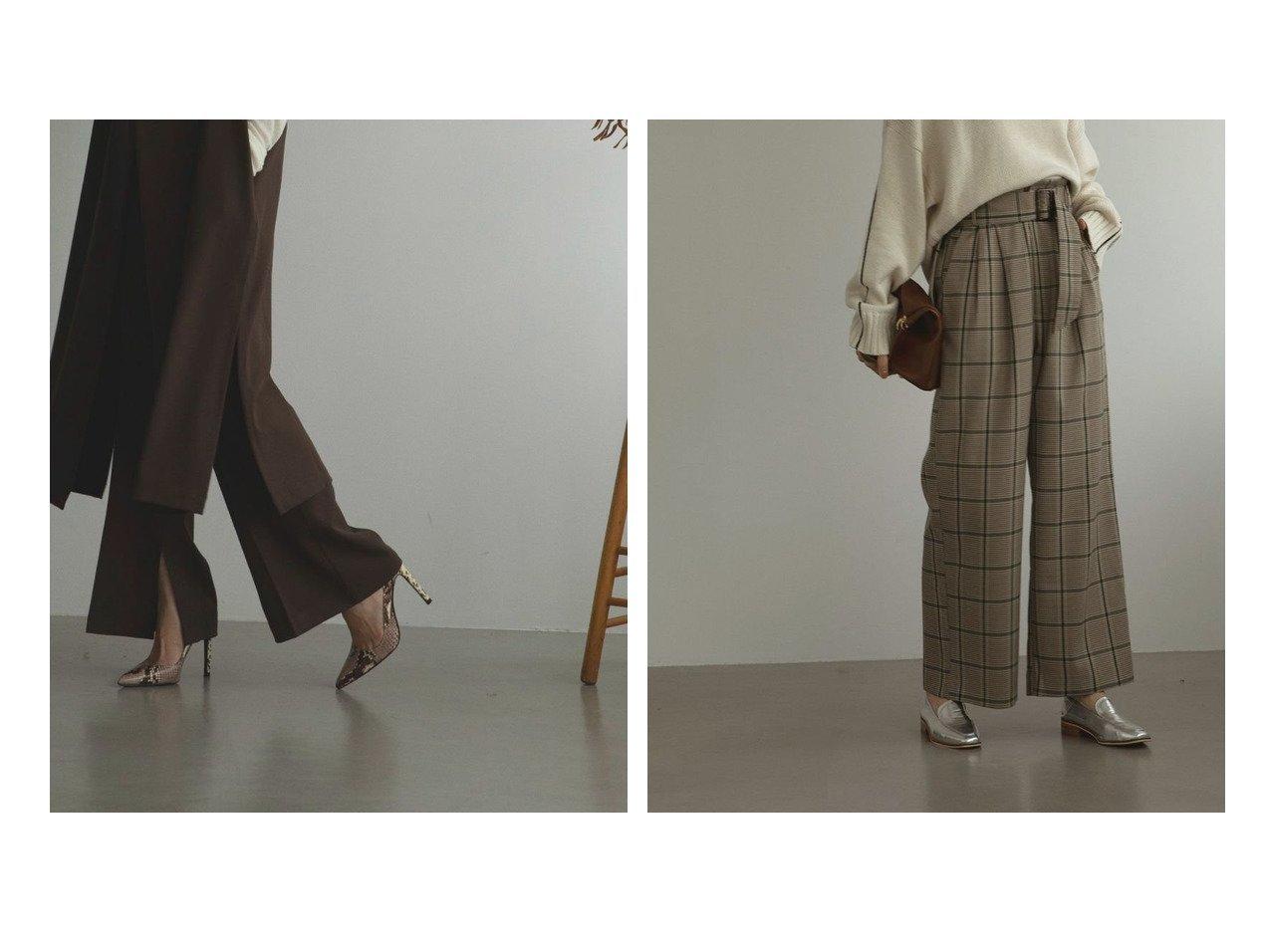 【marjour/マージュール】のフレアスリットパンツ FLARE SLIT PANTS&チェックパンツ CHECK PANTS マージュールのおすすめ!人気、トレンド・レディースファッションの通販 おすすめで人気の流行・トレンド、ファッションの通販商品 メンズファッション・キッズファッション・インテリア・家具・レディースファッション・服の通販 founy(ファニー) https://founy.com/ ファッション Fashion レディースファッション WOMEN パンツ Pants オレンジ スリット セットアップ フレア ベスト マニッシュ モノトーン ロング A/W 秋冬 AW Autumn/Winter / FW Fall-Winter インナー シャーリング タイツ チェック パステル パターン ラベンダー レギンス ワイド 冬 Winter 春 Spring 無地 |ID:crp329100000021537