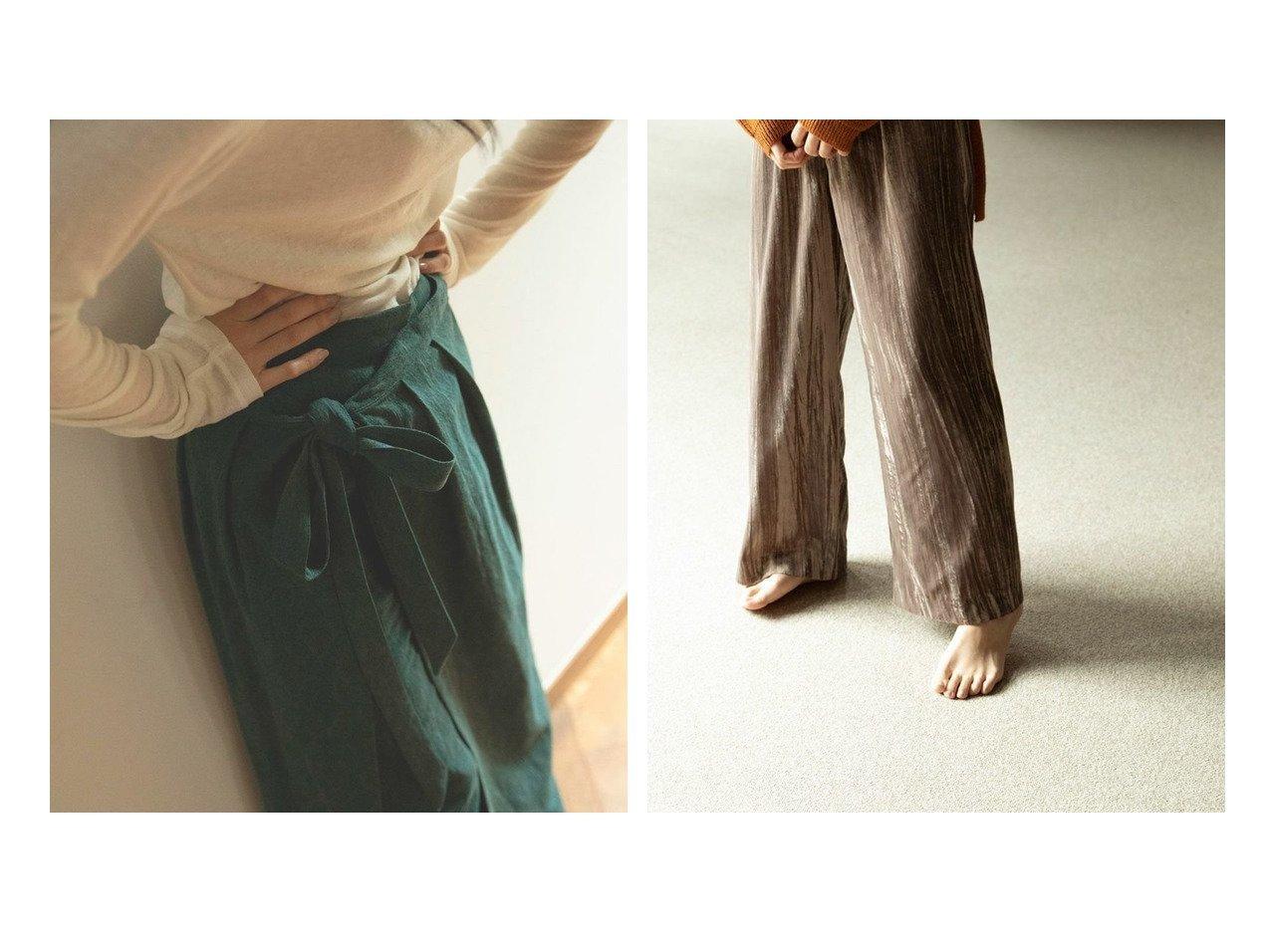 【marjour/マージュール】のラップスカート付きレイヤードパンツ WRAP SKIRT LAYERED PANTS&リラックスベロアパンツ RELAX VELOUR PANTS マージュールのおすすめ!人気、トレンド・レディースファッションの通販 おすすめで人気の流行・トレンド、ファッションの通販商品 メンズファッション・キッズファッション・インテリア・家具・レディースファッション・服の通販 founy(ファニー) https://founy.com/ ファッション Fashion レディースファッション WOMEN スカート Skirt パンツ Pants シンプル ラップ プリーツ ベロア リラックス |ID:crp329100000021538