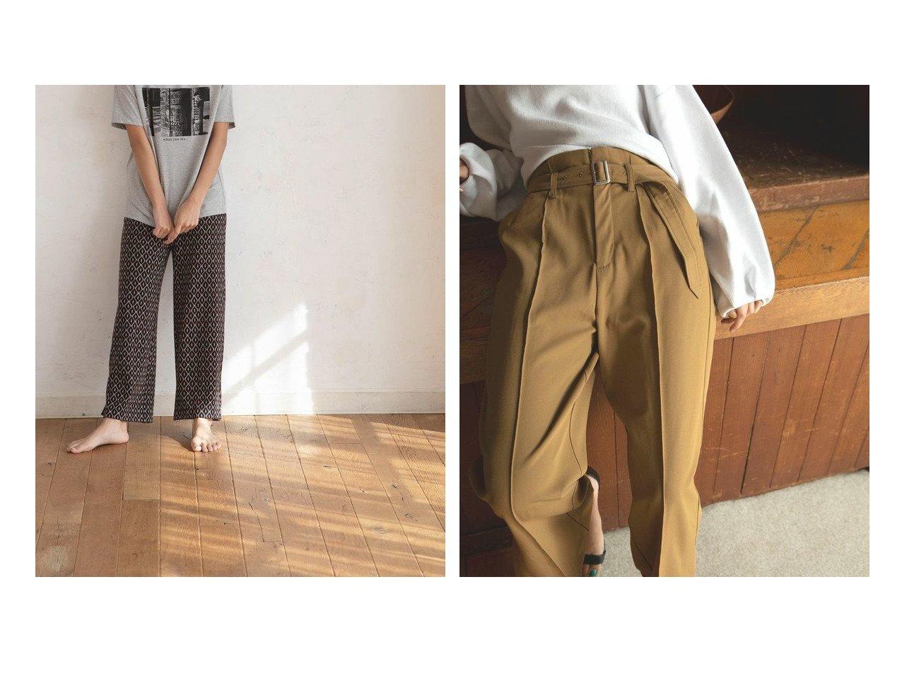 【marjour/マージュール】のリラックスレトロパターンパンツ RELAX RETRO PATTERN PANTS&ワームスリットパンツ WARM SLIT PANTS マージュールのおすすめ!人気、トレンド・レディースファッションの通販 おすすめで人気の流行・トレンド、ファッションの通販商品 メンズファッション・キッズファッション・インテリア・家具・レディースファッション・服の通販 founy(ファニー) https://founy.com/ ファッション Fashion レディースファッション WOMEN パンツ Pants シンプル トレンド プレーン リラックス ジャケット スウェット スリット センター ワイド |ID:crp329100000021539