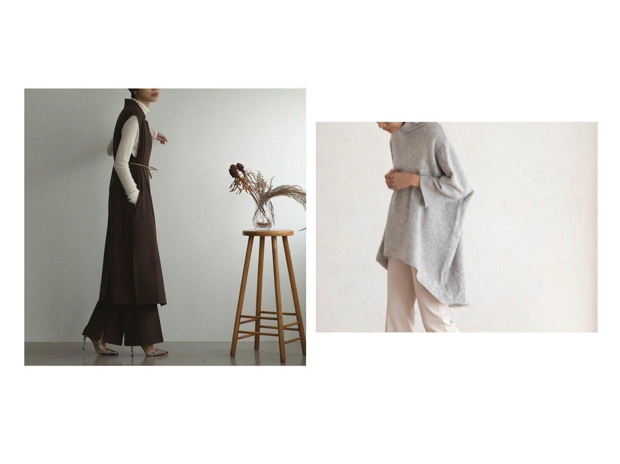 【marjour/マージュール】のインサイドカラージレ INSIDE COLLAR GILET&ハイネックポンチョニット HIGHNECK PONCHO KNIT マージュールのおすすめ!人気、トレンド・レディースファッションの通販 おすすめで人気の流行・トレンド、ファッションの通販商品 メンズファッション・キッズファッション・インテリア・家具・レディースファッション・服の通販 founy(ファニー) https://founy.com/ ファッション Fashion レディースファッション WOMEN アウター Coat Outerwear トップス カットソー Tops Tshirt ベスト/ジレ Gilets Vests ポンチョ Ponchos ニット Knit Tops 春 Spring 秋 Autumn/Fall カットソー スタイリッシュ セットアップ タートルネック ツイル ノースリーブ 長袖 フレア ベスト 半袖 マニッシュ ミドル ロング ワイド 冬 Winter おすすめ Recommend トレンド バランス バングル ブレスレット ベーシック |ID:crp329100000021555