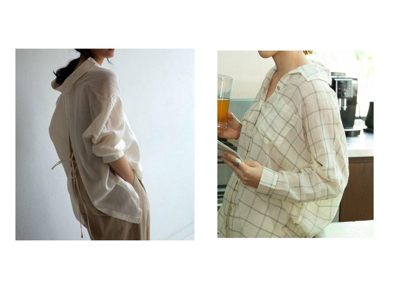 【marjour/マージュール】のmarjourバックスリットシャツ BACK SLIT SHIRTS&marjourチェックシャツ WINDOWPANE CHECK SHIRTS マージュールのおすすめ!人気、トレンド・レディースファッションの通販 おすすめで人気の流行・トレンド、ファッションの通販商品 メンズファッション・キッズファッション・インテリア・家具・レディースファッション・服の通販 founy(ファニー) https://founy.com/ ファッション Fashion レディースファッション WOMEN トップス カットソー Tops Tshirt シャツ/ブラウス Shirts Blouses ロング / Tシャツ T-Shirts バッグ Bag インナー スリット バランス フロント リボン おすすめ Recommend キャミソール シアー タンク チェック トレンド 今季  ID:crp329100000021573