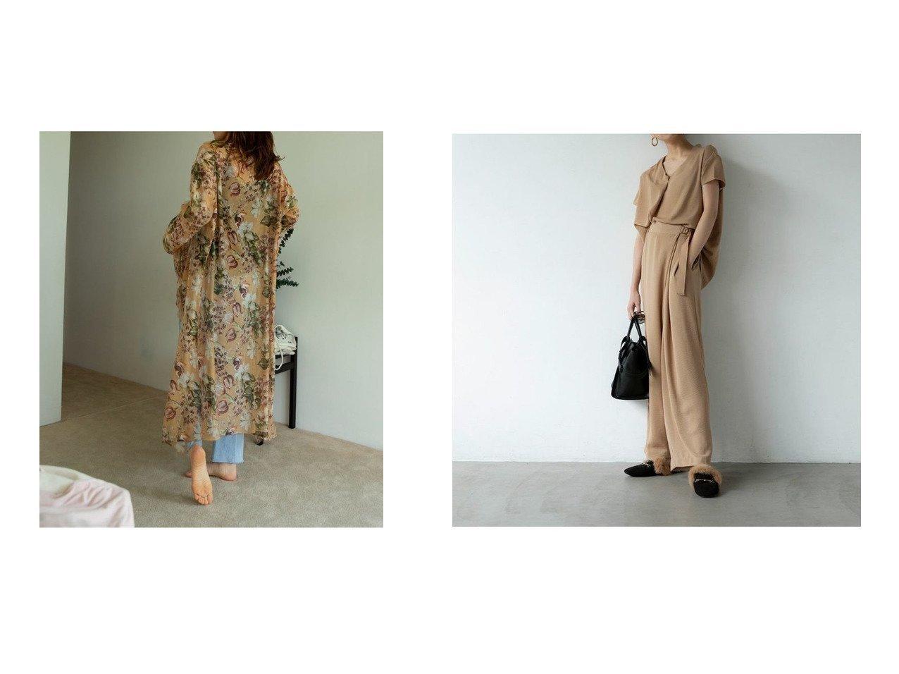 【marjour/マージュール】のmarjourフラワーカーディガン FLOWER CARDIGAN&marjourドライタッチセットアップ DRYTOUCH SETUP マージュールのおすすめ!人気、トレンド・レディースファッションの通販 おすすめで人気の流行・トレンド、ファッションの通販商品 メンズファッション・キッズファッション・インテリア・家具・レディースファッション・服の通販 founy(ファニー) https://founy.com/ ファッション Fashion レディースファッション WOMEN トップス カットソー Tops Tshirt カーディガン Cardigans セットアップ Setup カーディガン シアー ノースリーブ フラワー ロング アシンメトリー シフォン セットアップ ワイド 半袖  ID:crp329100000021577