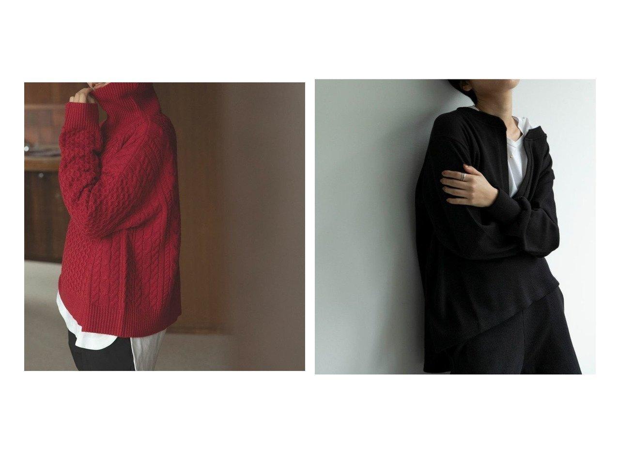 【marjour/マージュール】のmarjourルージュタートルニット ROUGE TURTLE KNIT&サーマルセットアップ THERMAL SETUP マージュールのおすすめ!人気、トレンド・レディースファッションの通販 おすすめで人気の流行・トレンド、ファッションの通販商品 メンズファッション・キッズファッション・インテリア・家具・レディースファッション・服の通販 founy(ファニー) https://founy.com/ ファッション Fashion レディースファッション WOMEN トップス カットソー Tops Tshirt ニット Knit Tops セットアップ Setup インナー ジャケット タートル タートルネック ダメージ チェック 秋 Autumn/Fall カットソー キャミソール スウェット スタイリッシュ スリット セットアップ デニム 長袖 ボトム おすすめ Recommend  ID:crp329100000021578