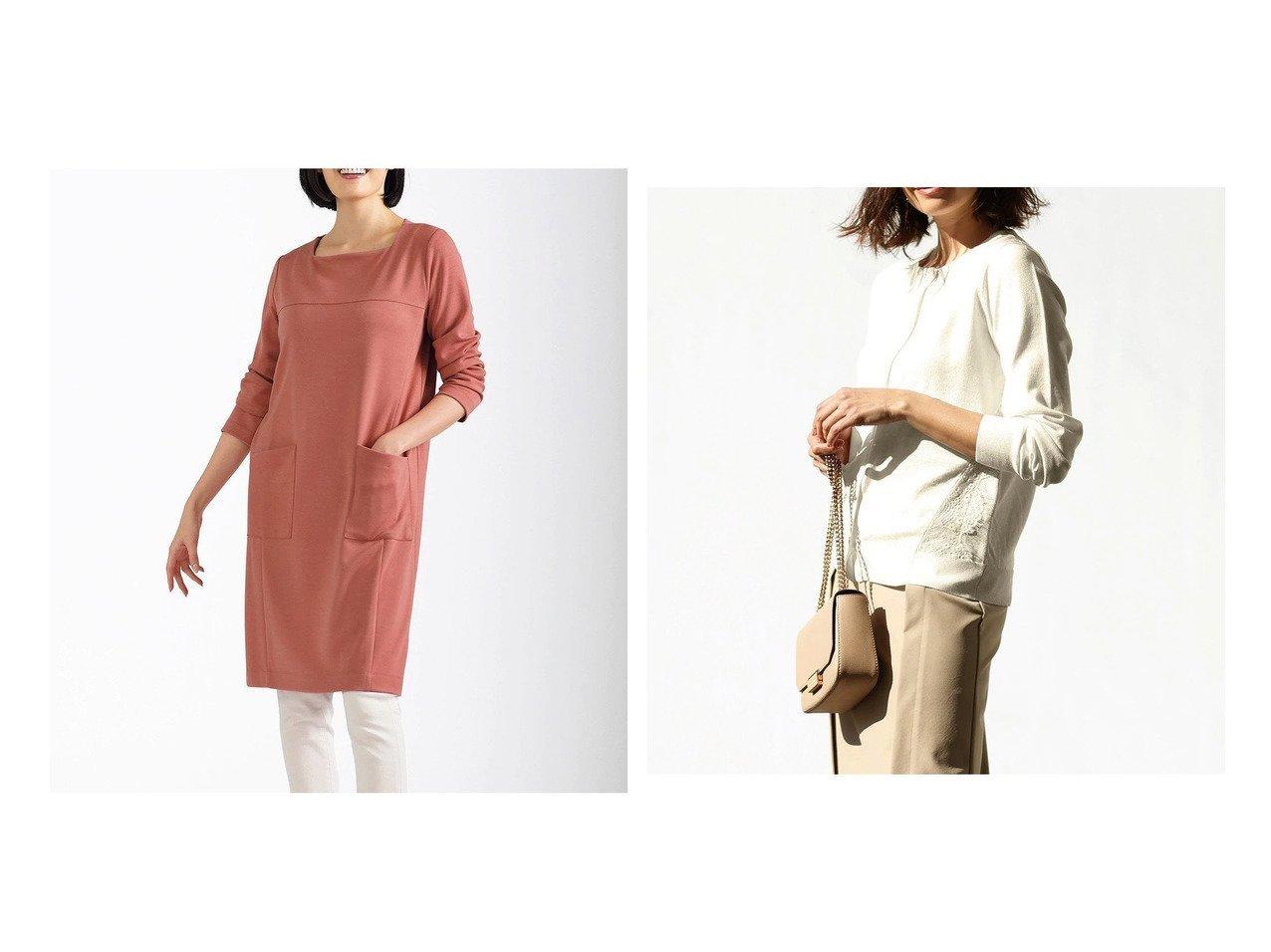 【DoCLASSE/ドゥクラッセ】のシャインストレッチ・スクエアチュニック&リラクシーニット・配色レースカーディガン ドゥクラッセの40代、50代の方におすすめ!人気トレンド・ファッションの通販 おすすめで人気の流行・トレンド、ファッションの通販商品 メンズファッション・キッズファッション・インテリア・家具・レディースファッション・服の通販 founy(ファニー) https://founy.com/ ファッション Fashion レディースファッション WOMEN トップス カットソー Tops Tshirt ニット Knit Tops カーディガン Cardigans カーディガン シンプル フェミニン レース ロング スクエア ポケット |ID:crp329100000021625