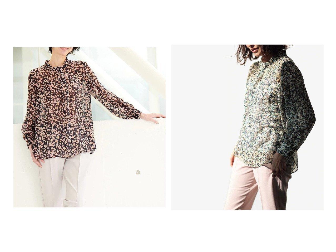 【DoCLASSE/ドゥクラッセ】のフラワーシフォン・ボウタイ風ブラウス ドゥクラッセの40代、50代の方におすすめ!人気トレンド・ファッションの通販 おすすめで人気の流行・トレンド、ファッションの通販商品 メンズファッション・キッズファッション・インテリア・家具・レディースファッション・服の通販 founy(ファニー) https://founy.com/ ファッション Fashion レディースファッション WOMEN トップス カットソー Tops Tshirt シャツ/ブラウス Shirts Blouses シフォン フラワー プリント 春 Spring |ID:crp329100000021626