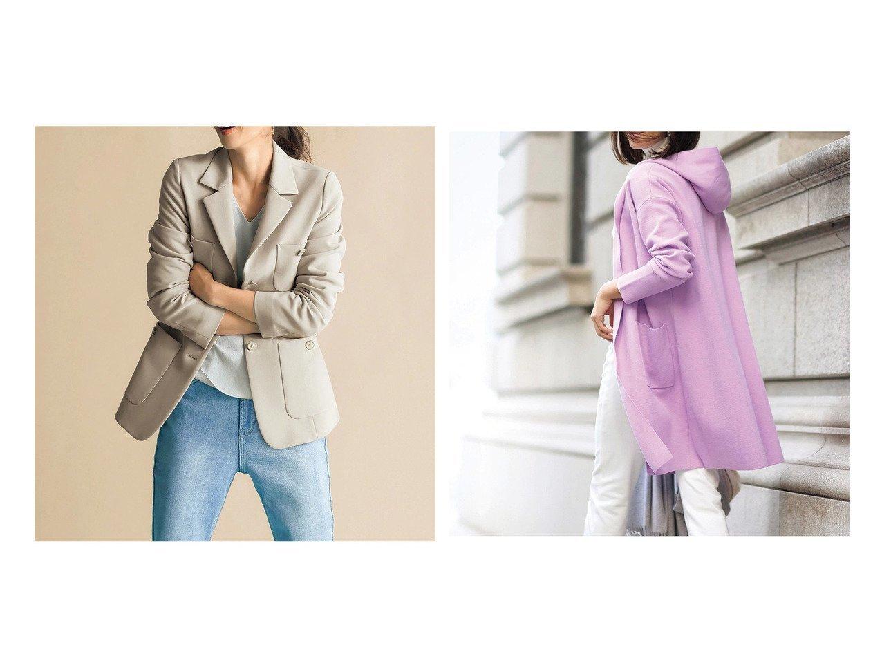 【DoCLASSE/ドゥクラッセ】のミラノリブ・着流しフードコート&プレミアム二重織・グレースジャケット ドゥクラッセの40代、50代の方におすすめ!人気トレンド・ファッションの通販 おすすめで人気の流行・トレンド、ファッションの通販商品 メンズファッション・キッズファッション・インテリア・家具・レディースファッション・服の通販 founy(ファニー) https://founy.com/ ファッション Fashion レディースファッション WOMEN アウター Coat Outerwear コート Coats ジャケット Jackets ミドル ミラノリブ 春 Spring |ID:crp329100000021634