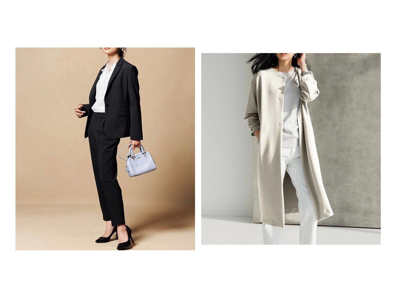 【DoCLASSE/ドゥクラッセ】のプレミアム二重織・テーラードジャケット&シャインストレッチ・ノーカラーコート ドゥクラッセの40代、50代の方におすすめ!人気トレンド・ファッションの通販 おすすめで人気の流行・トレンド、ファッションの通販商品 メンズファッション・キッズファッション・インテリア・家具・レディースファッション・服の通販 founy(ファニー) https://founy.com/ ファッション Fashion レディースファッション WOMEN アウター Coat Outerwear コート Coats ジャケット Jackets テーラードジャケット Tailored Jackets なめらか シンプル ジャージー フェミニン 洗える ストレッチ プレミアム |ID:crp329100000021635