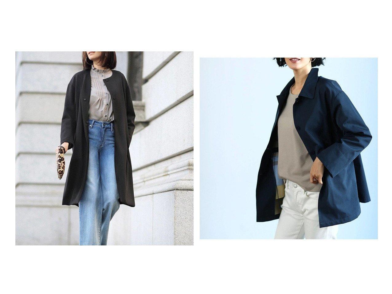 【DoCLASSE/ドゥクラッセ】のシャインストレッチ・ノーカラーコート&二重織メモリー・ショートコート ドゥクラッセの40代、50代の方におすすめ!人気トレンド・ファッションの通販 おすすめで人気の流行・トレンド、ファッションの通販商品 メンズファッション・キッズファッション・インテリア・家具・レディースファッション・服の通販 founy(ファニー) https://founy.com/ ファッション Fashion レディースファッション WOMEN アウター Coat Outerwear コート Coats ショート ダブル フェイス なめらか シンプル ジャージー フェミニン 洗える |ID:crp329100000021636