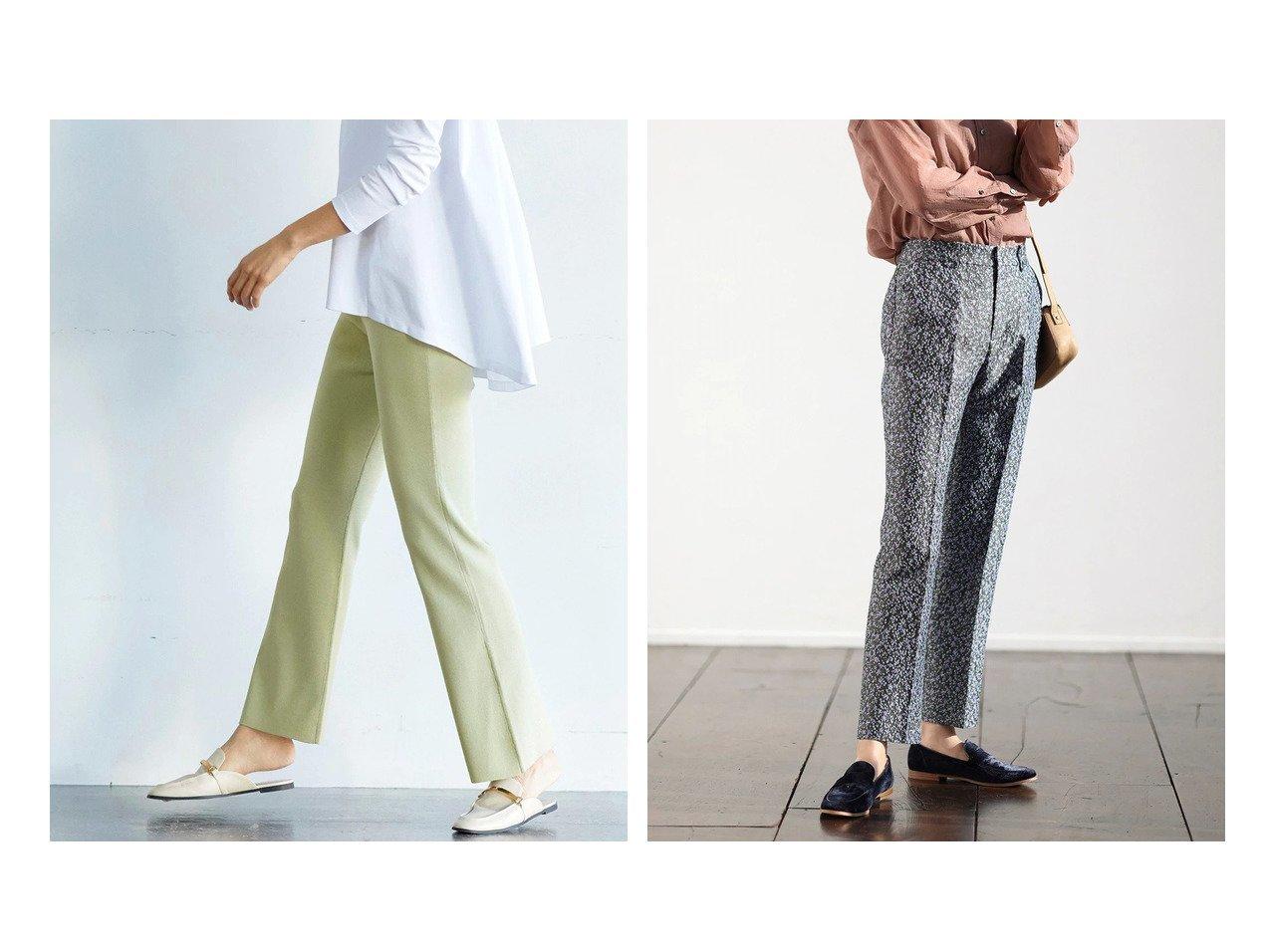 【DoCLASSE/ドゥクラッセ】の総針編み・フレアニットパンツ&フラワージャカード・テーパードパンツ ドゥクラッセの40代、50代の方におすすめ!人気トレンド・ファッションの通販 おすすめで人気の流行・トレンド、ファッションの通販商品 メンズファッション・キッズファッション・インテリア・家具・レディースファッション・服の通販 founy(ファニー) https://founy.com/ ファッション Fashion レディースファッション WOMEN パンツ Pants カッティング ジャカード スリム フレア トレンド 楽ちん |ID:crp329100000021639