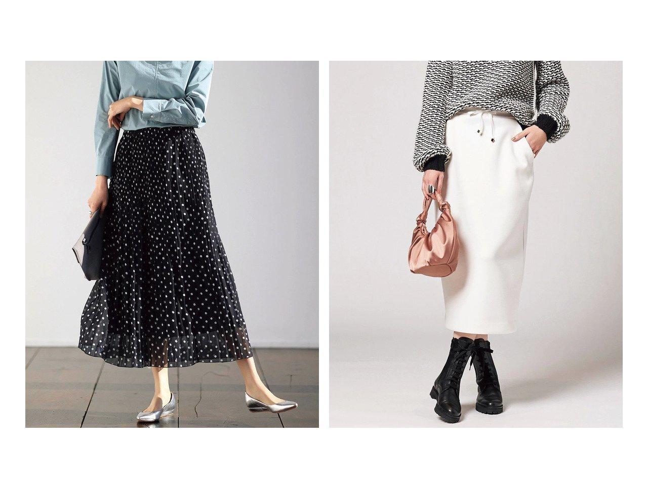 【DoCLASSE/ドゥクラッセ】のドットシフォン・プリーツスカート&ファインスウェット・ストレートスカート ドゥクラッセの40代、50代の方におすすめ!人気トレンド・ファッションの通販 おすすめで人気の流行・トレンド、ファッションの通販商品 メンズファッション・キッズファッション・インテリア・家具・レディースファッション・服の通販 founy(ファニー) https://founy.com/ ファッション Fashion レディースファッション WOMEN スカート Skirt プリーツスカート Pleated Skirts なめらか スウェット セットアップ パーカー 春 Spring ドット フェミニン フレア プリーツ 無地 |ID:crp329100000021642