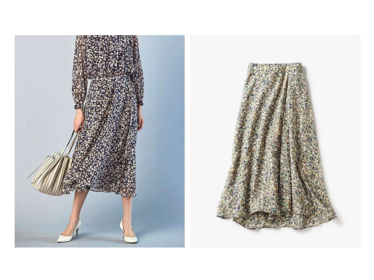 【DoCLASSE/ドゥクラッセ】のフラワーシフォン・フレアスカート ドゥクラッセの40代、50代の方におすすめ!人気トレンド・ファッションの通販 おすすめで人気の流行・トレンド、ファッションの通販商品 メンズファッション・キッズファッション・インテリア・家具・レディースファッション・服の通販 founy(ファニー) https://founy.com/ ファッション Fashion レディースファッション WOMEN スカート Skirt Aライン/フレアスカート Flared A-Line Skirts シフォン フレア |ID:crp329100000021644