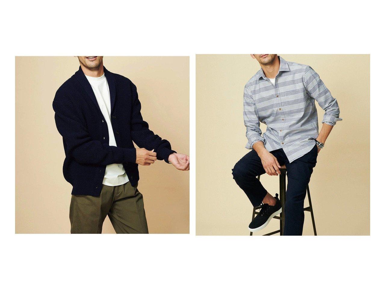 【DoCLASSE / MEN/ドゥクラッセ】のワッフル編ショールカーデ&ピュアファインシャツ長袖レギュラー襟/トールサイズ 【MEN】ドゥクラッセの40代、50代の男性におすすめ!人気トレンド・メンズファッションの通販 おすすめで人気の流行・トレンド、ファッションの通販商品 メンズファッション・キッズファッション・インテリア・家具・レディースファッション・服の通販 founy(ファニー) https://founy.com/ ファッション Fashion メンズファッション MEN ワッフル 洗える 軽量 ストレッチ ドレス プレミアム レギュラー ワーク 抗菌 長袖 |ID:crp329100000021651