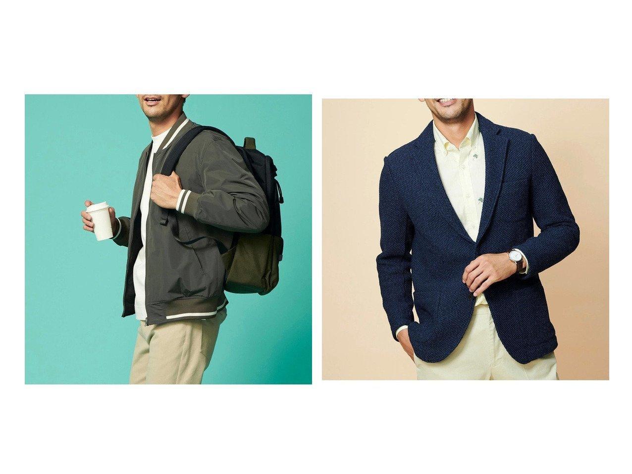 【DoCLASSE / MEN/ドゥクラッセ】のマジカルサーモリバーシブルMA-1&楽スマニット編みジャケット 【MEN】ドゥクラッセの40代、50代の男性におすすめ!人気トレンド・メンズファッションの通販 おすすめで人気の流行・トレンド、ファッションの通販商品 メンズファッション・キッズファッション・インテリア・家具・レディースファッション・服の通販 founy(ファニー) https://founy.com/ ファッション Fashion メンズファッション MEN インナー ダウン ブルゾン ブロック リバーシブル ジャケット ストレッチ スマート |ID:crp329100000021656