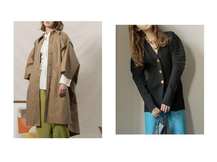 【MAISON SPECIAL/メゾンスペシャル】のサーキュラーショルダーニットカーディガン&ポンチョコート メゾンスペシャルのおすすめ!人気、トレンド・レディースファッションの通販 おすすめファッション通販アイテム レディースファッション・服の通販 founy(ファニー) ファッション Fashion レディースファッション WOMEN アウター Coat Outerwear コート Coats ポンチョ Ponchos トップス カットソー Tops Tshirt ニット Knit Tops カーディガン Cardigans 2021年 2021 2021 春夏 S/S SS Spring/Summer 2021 S/S 春夏 SS Spring/Summer おすすめ Recommend インナー スリット フォルム フラップ フロント マニッシュ ロング 春 Spring カーディガン ショルダー フィット ミドル |ID:crp329100000021784