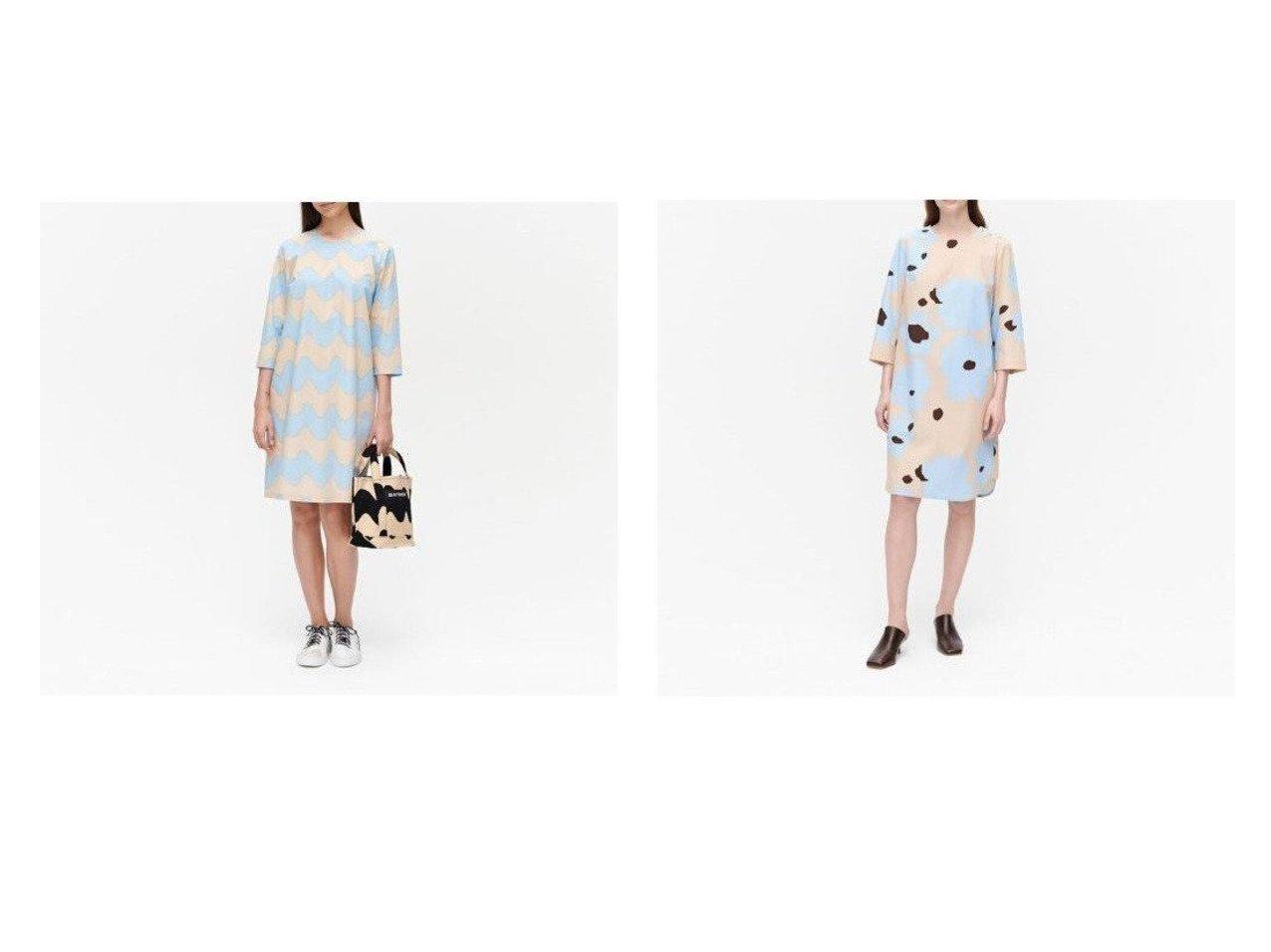 【marimekko/マリメッコ】のHavaittu Pikku Lokki ワンピース&Joukko Liito ワンピース マリメッコのおすすめ!人気、トレンド・レディースファッションの通販 おすすめで人気の流行・トレンド、ファッションの通販商品 メンズファッション・キッズファッション・インテリア・家具・レディースファッション・服の通販 founy(ファニー) https://founy.com/ ファッション Fashion レディースファッション WOMEN ワンピース Dress シンプル プリント リボン ワンポイント ショルダー フェミニン |ID:crp329100000021906