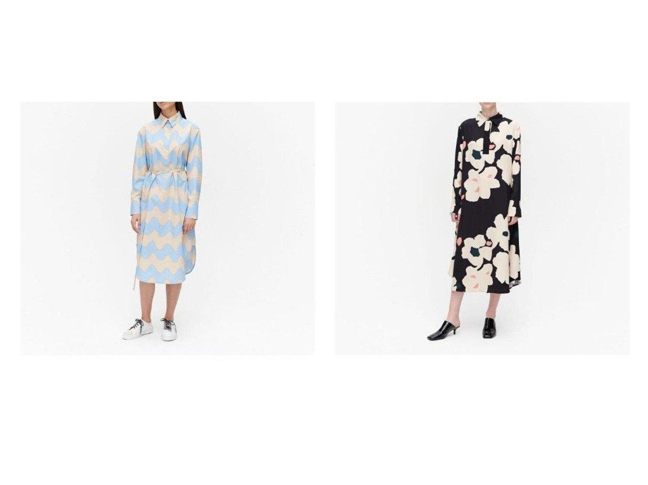 【marimekko/マリメッコ】のLokki Kuuluminen ワンピース&Arkussiini Liito ワンピース マリメッコのおすすめ!人気、トレンド・レディースファッションの通販 おすすめで人気の流行・トレンド、ファッションの通販商品 メンズファッション・キッズファッション・インテリア・家具・レディースファッション・服の通販 founy(ファニー) https://founy.com/ ファッション Fashion レディースファッション WOMEN ワンピース Dress シャツワンピース Shirt Dresses モチーフ |ID:crp329100000021907